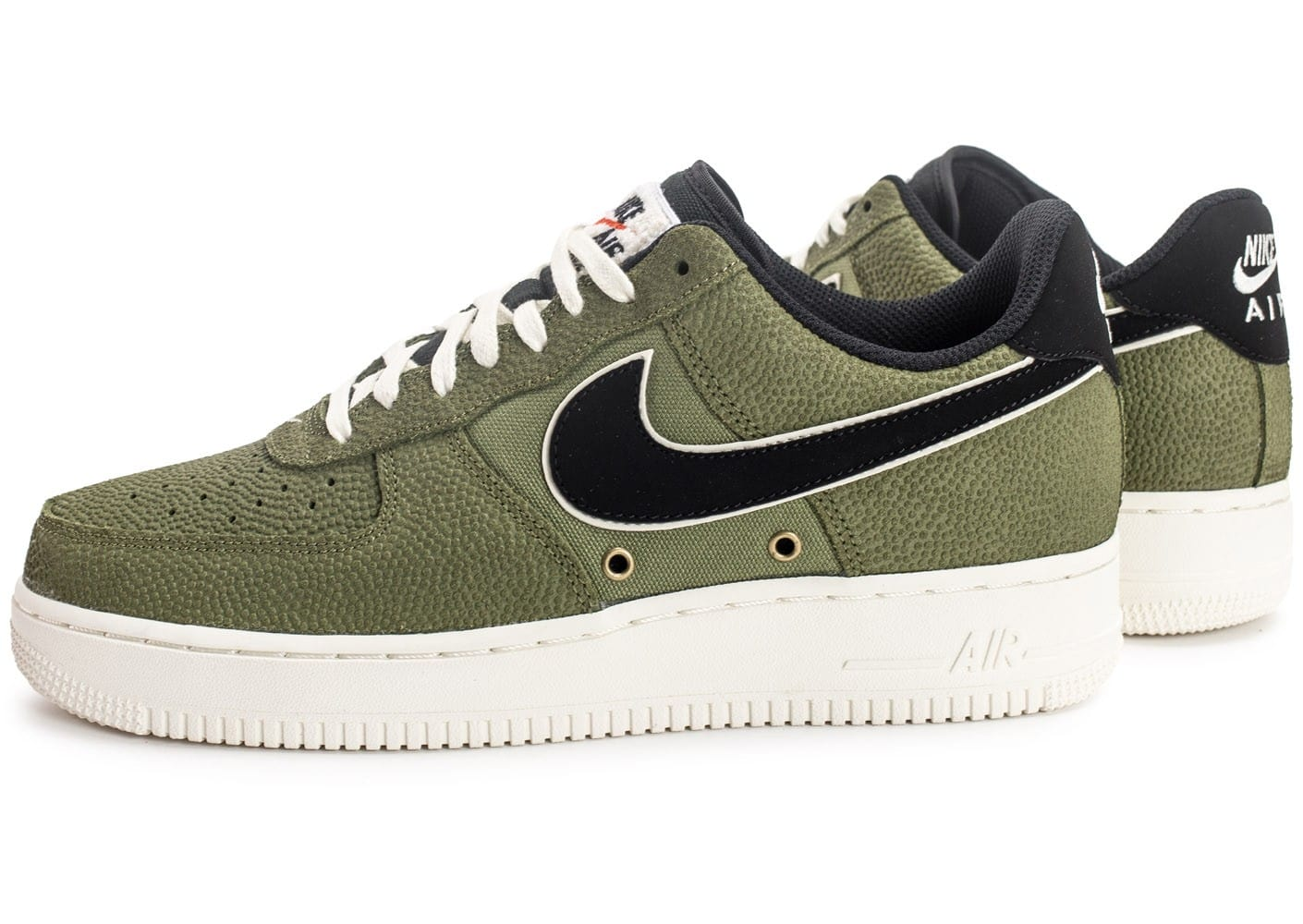 sale retailer 0949d 06eed ... chaussures nike air force 1 07 lv08 basketball leather verte vue par  paire