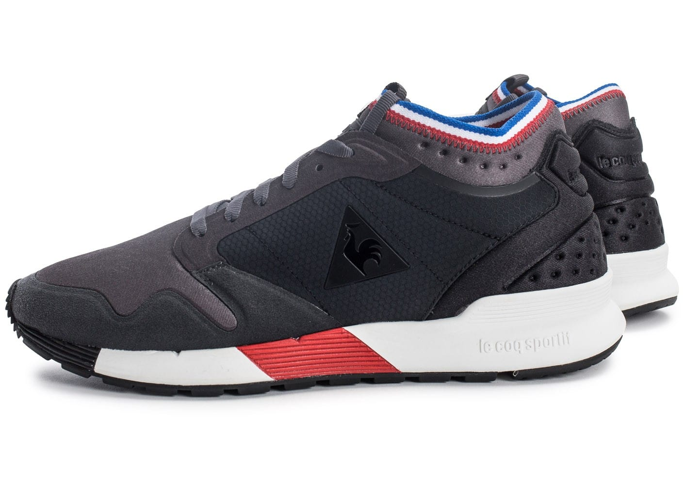 le coq sportif omicron ripstop tricolore chaussures baskets homme chausport. Black Bedroom Furniture Sets. Home Design Ideas