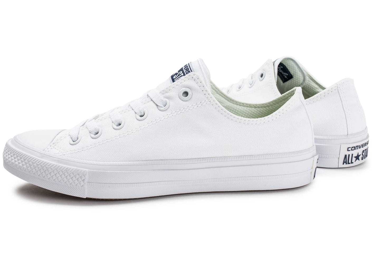 converse chuck taylor all star 2 ox blanche chaussures homme chausport. Black Bedroom Furniture Sets. Home Design Ideas
