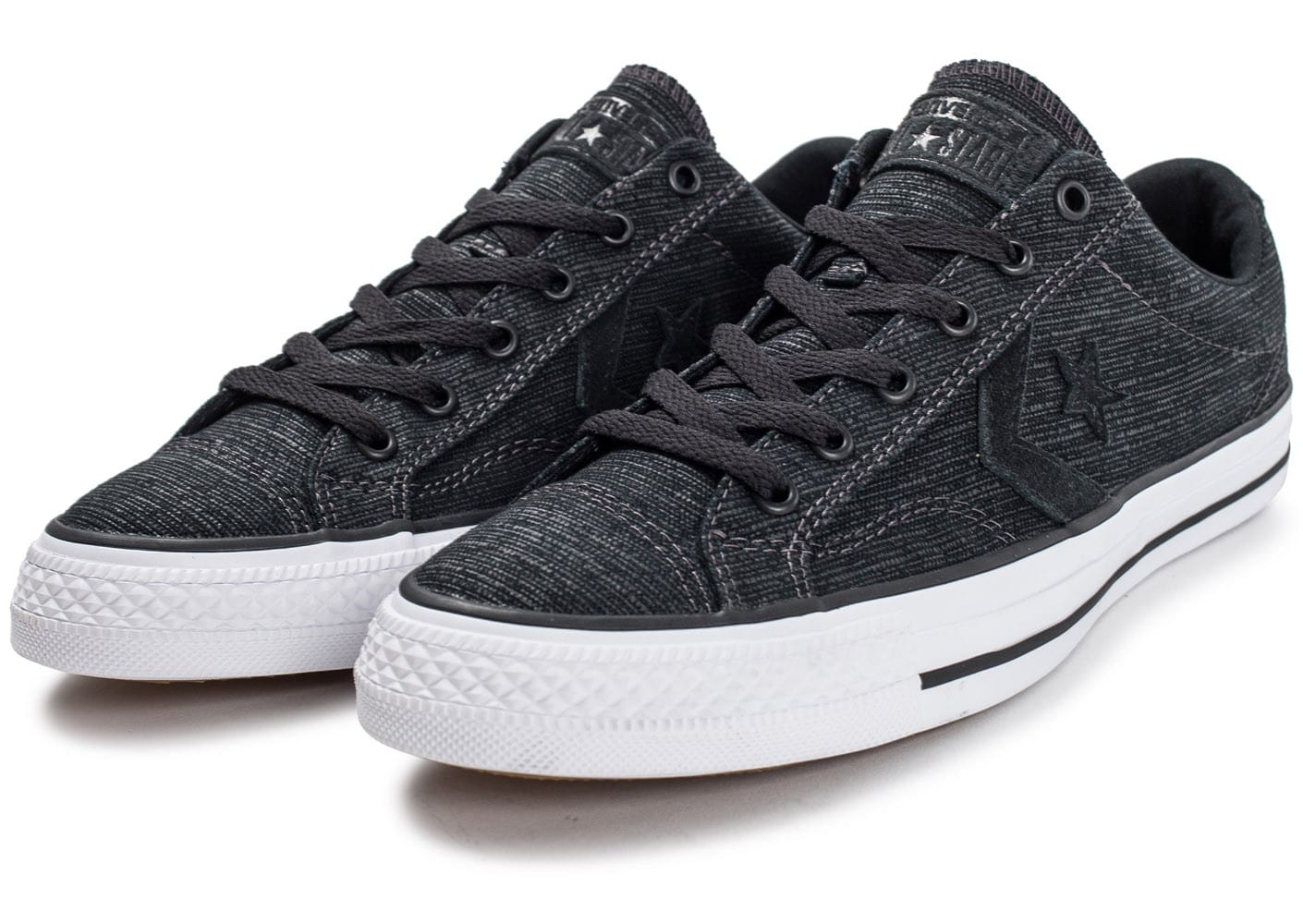 converse star player ox noire chaussures homme chausport. Black Bedroom Furniture Sets. Home Design Ideas