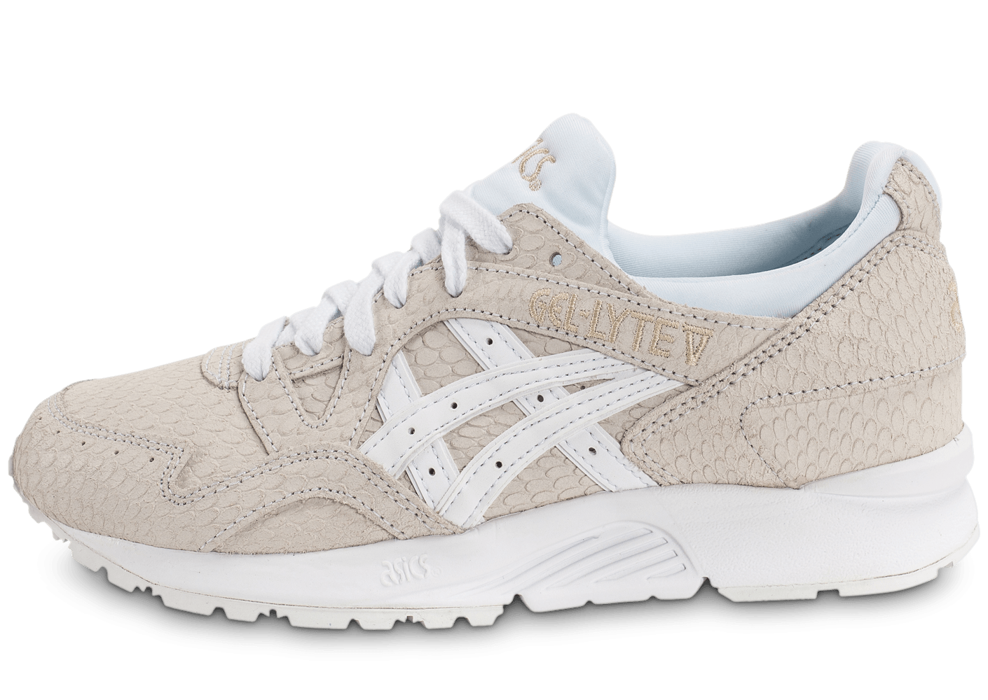 asics gel lyte v w blanche chaussures femme chausport. Black Bedroom Furniture Sets. Home Design Ideas