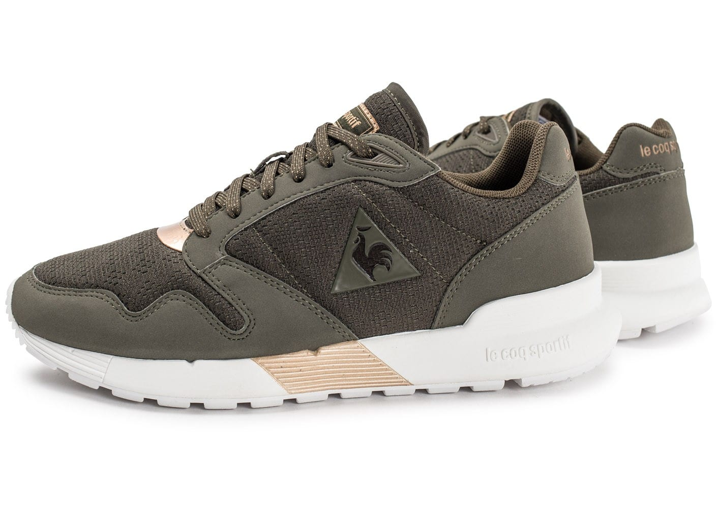 le coq sportif omega x w metallic kaki chaussures 50 sur le 2e article chausport. Black Bedroom Furniture Sets. Home Design Ideas
