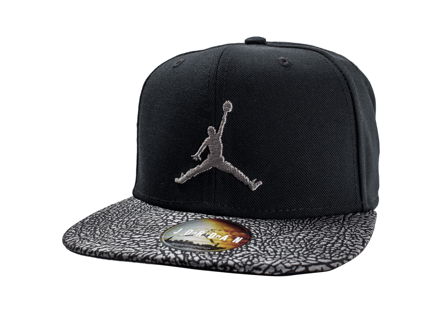 jordan casquette snapback elephant noire casquettes chausport. Black Bedroom Furniture Sets. Home Design Ideas