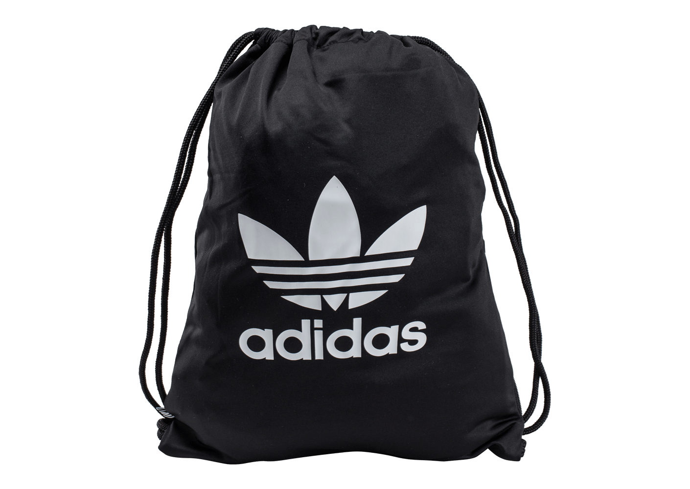 adidas sac de sport gymsack noir et blanc adidas chausport. Black Bedroom Furniture Sets. Home Design Ideas
