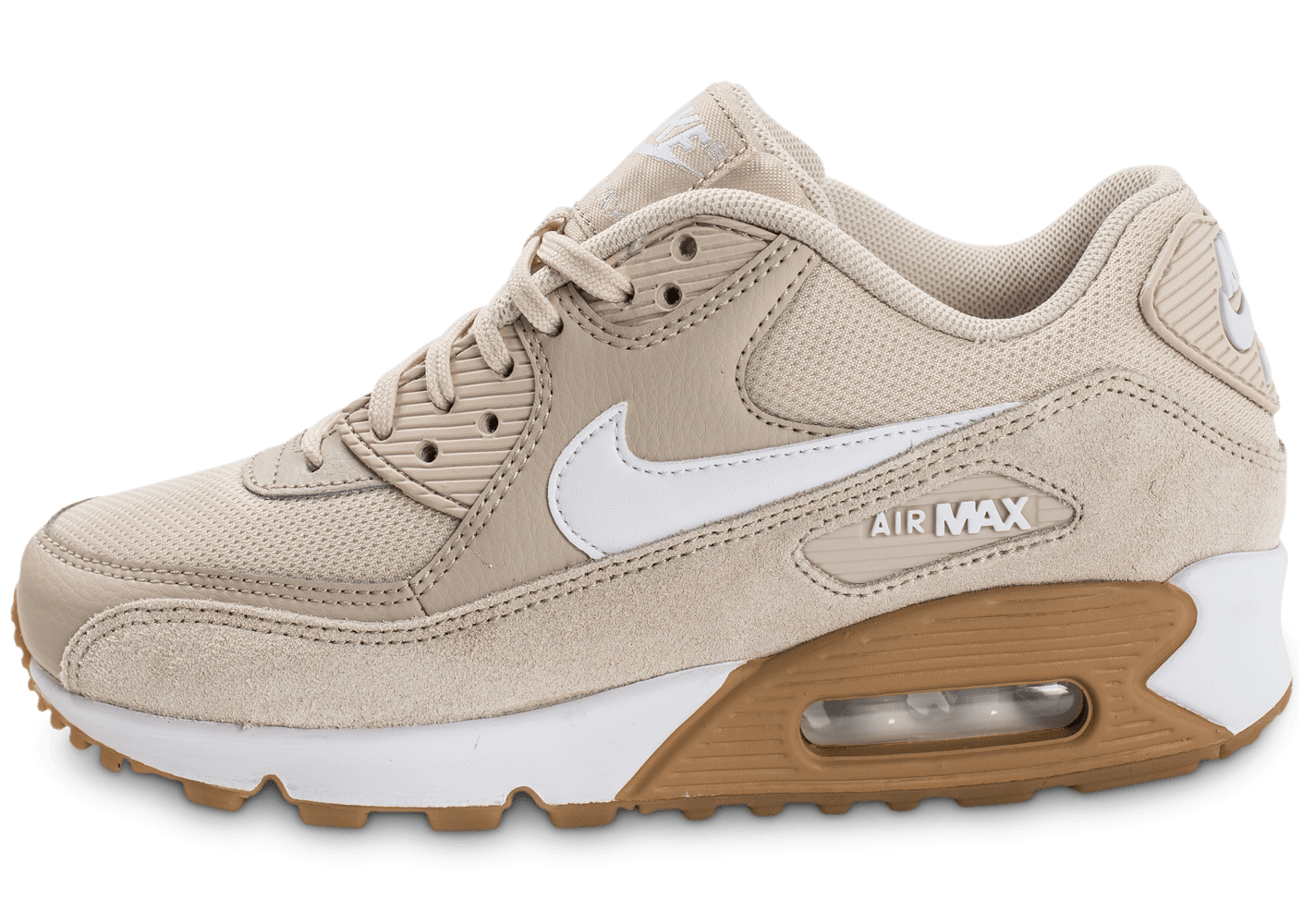nike air max 90 w beige chaussures femme chausport. Black Bedroom Furniture Sets. Home Design Ideas