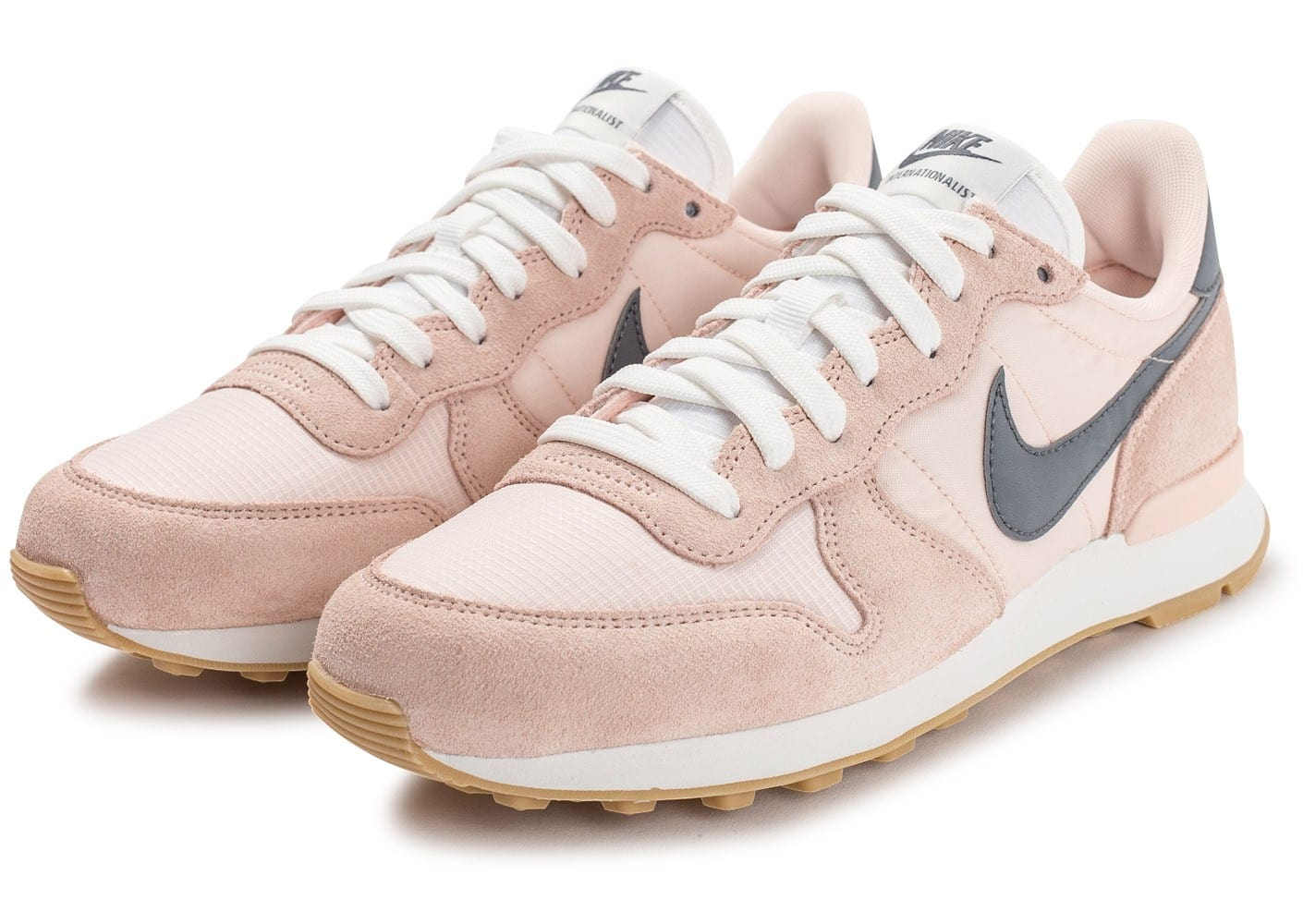 nike internationalist femme gris saumon