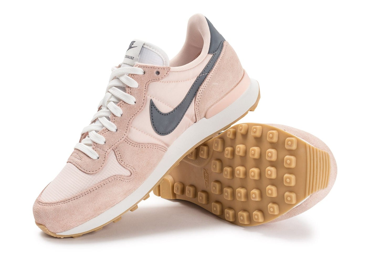 nike internationalist grise rose