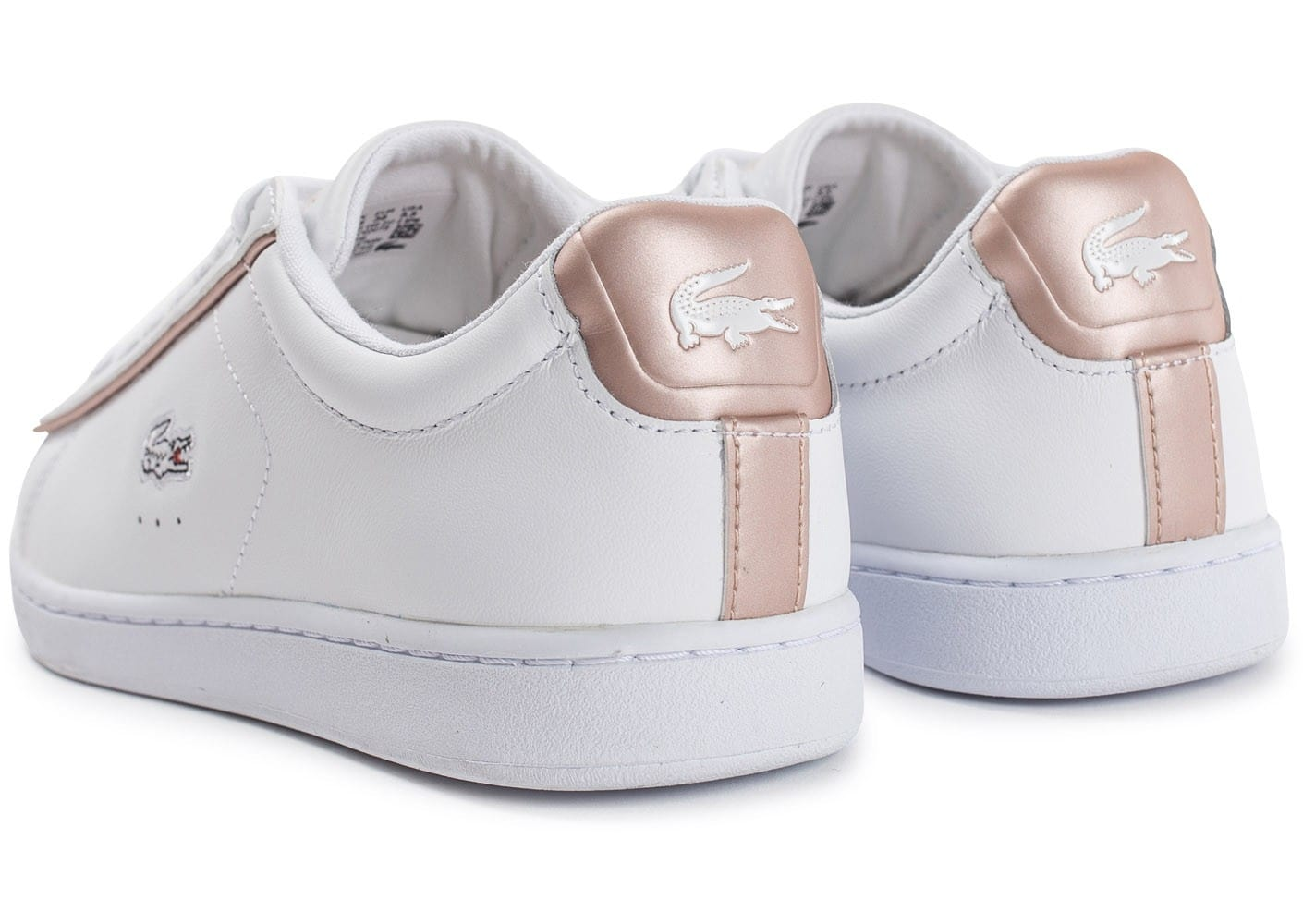 Lacoste Carnaby EVO blanche et rose perle