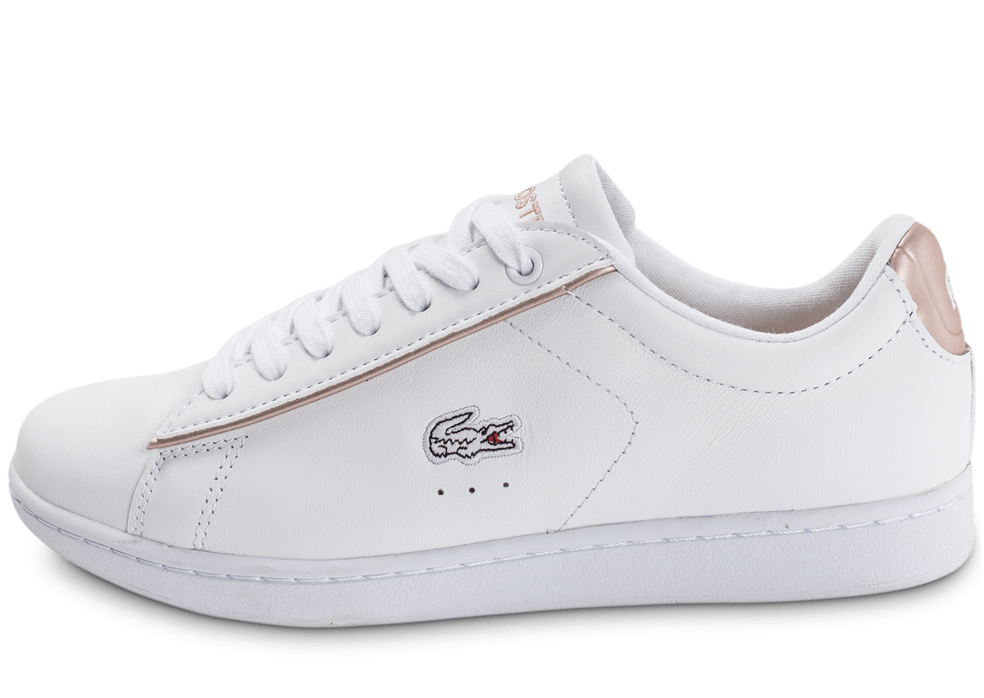 lacoste carnaby evo blanche et rose perle chaussures pour lyc ens chausport. Black Bedroom Furniture Sets. Home Design Ideas