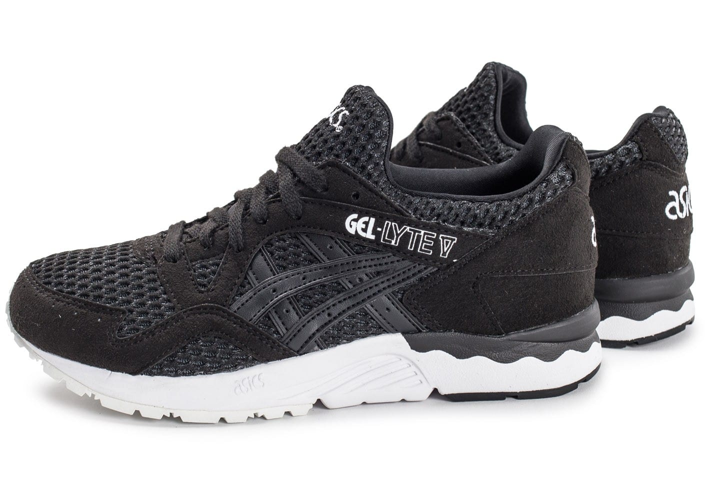 asics gel lyte v w noire et blanche chaussures black friday chausport. Black Bedroom Furniture Sets. Home Design Ideas
