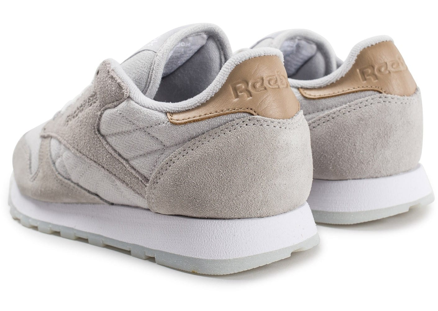 reebok classic leather sea worn grise chaussures femme chausport. Black Bedroom Furniture Sets. Home Design Ideas