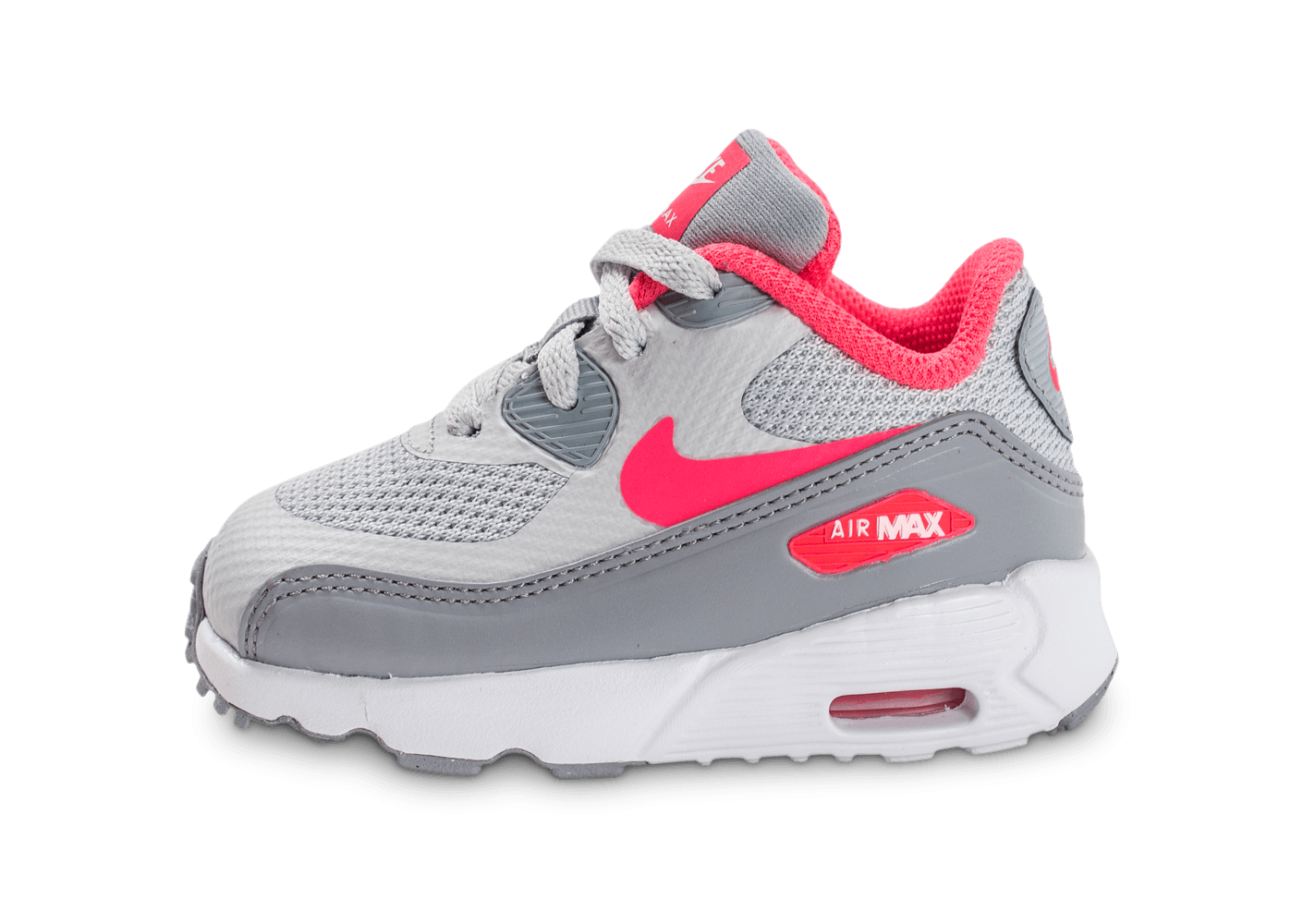 nike air max 90 ultra b b grise et rose chaussures enfant chausport. Black Bedroom Furniture Sets. Home Design Ideas