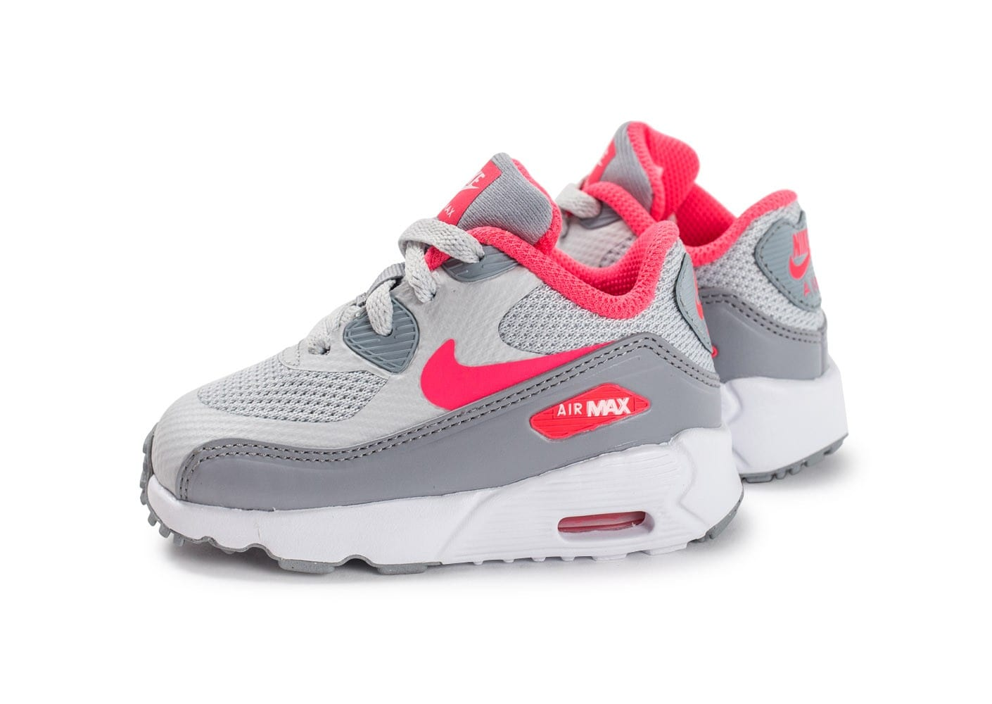 nike air max 90 ultra b b grise et rose chaussures toutes les baskets sold es chausport. Black Bedroom Furniture Sets. Home Design Ideas
