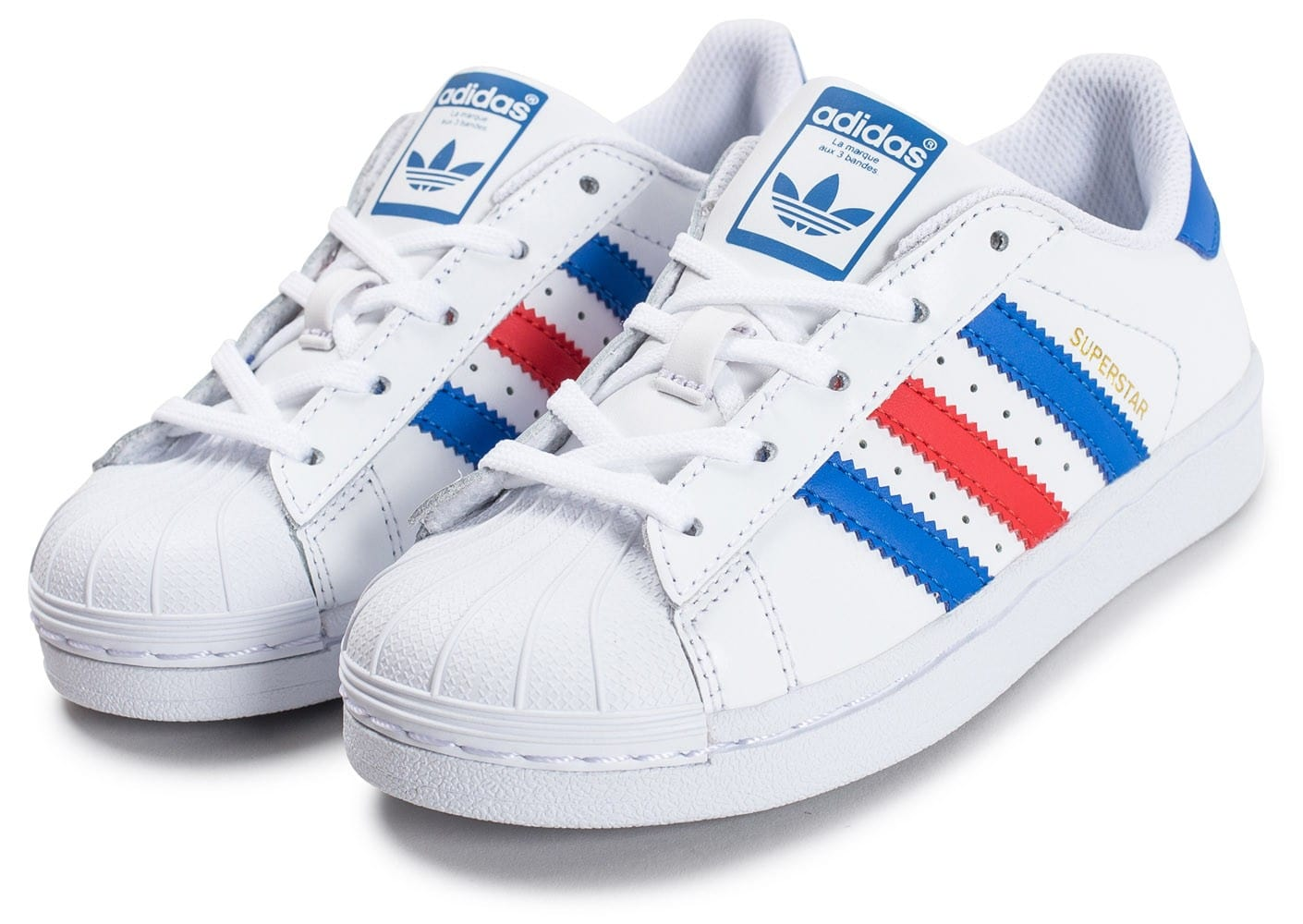 adidas superstar enfant bleu blanc rouge chaussures adidas chausport. Black Bedroom Furniture Sets. Home Design Ideas