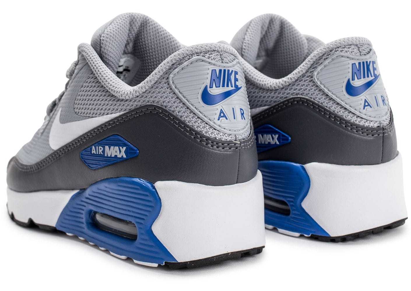 new concept 1d3a6 c8c1e chaussures nike air max 90 ultra 2 0 ultra enfant grise vue arriere