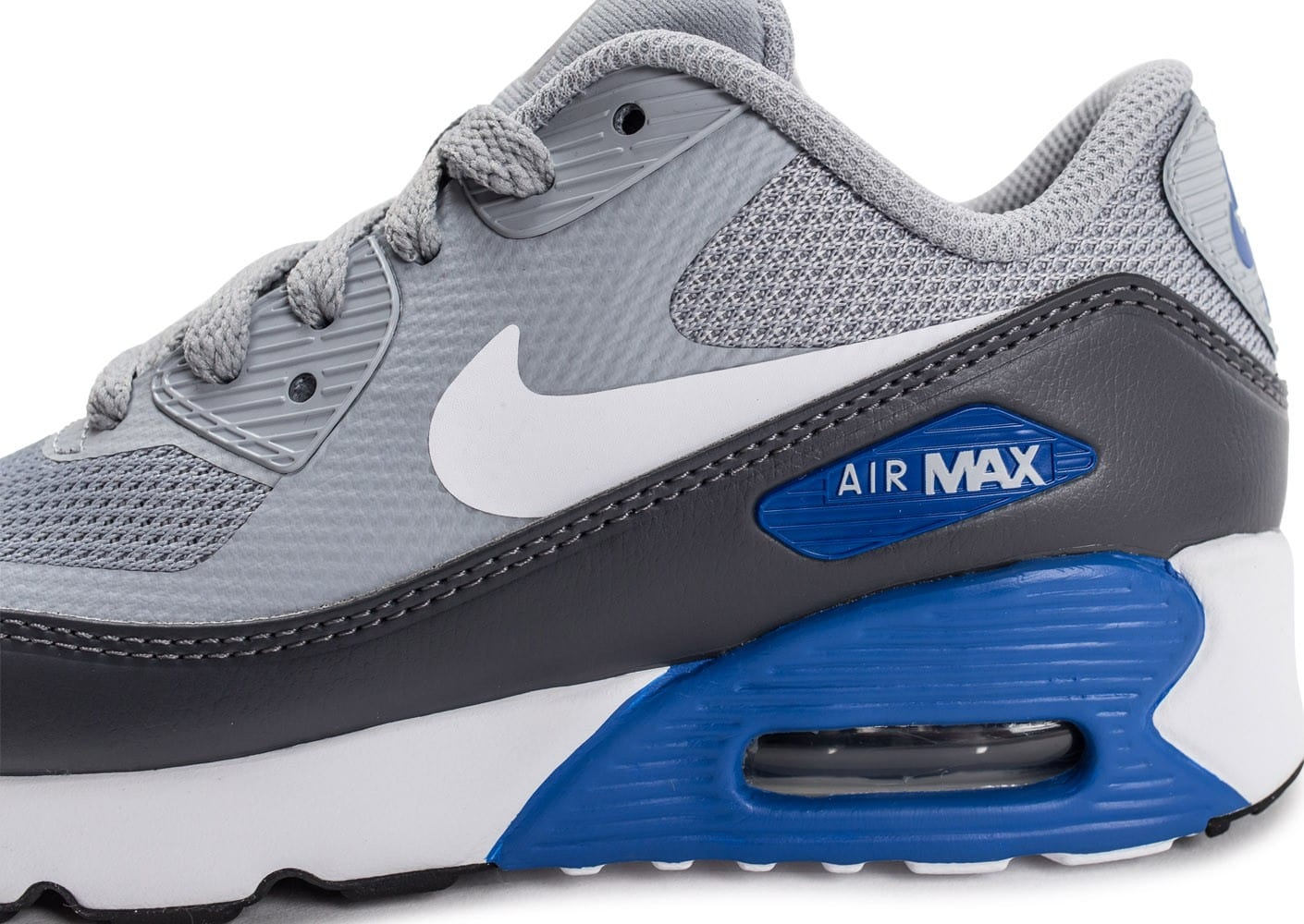 Chaussures Nike Air Max 90 Ultra 2.0 Ultra Enfant grise vue dessus .