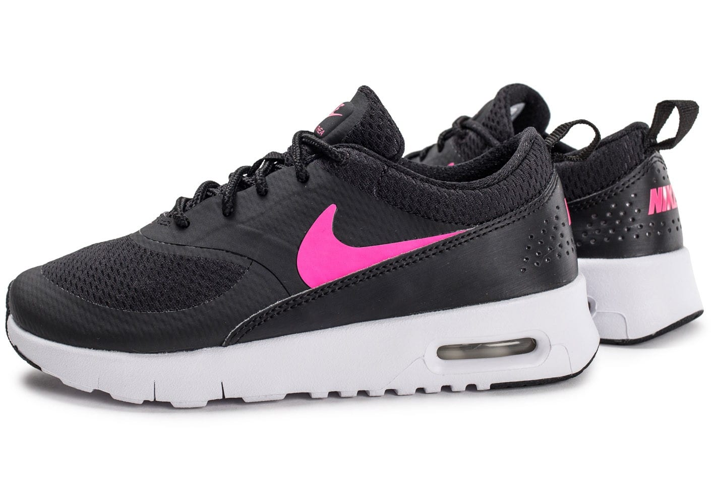nike air max thea enfant noire et rose chaussures chaussures chausport. Black Bedroom Furniture Sets. Home Design Ideas