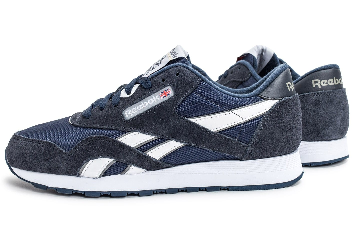 reebok classic nylon bleu marine chaussures homme chausport. Black Bedroom Furniture Sets. Home Design Ideas