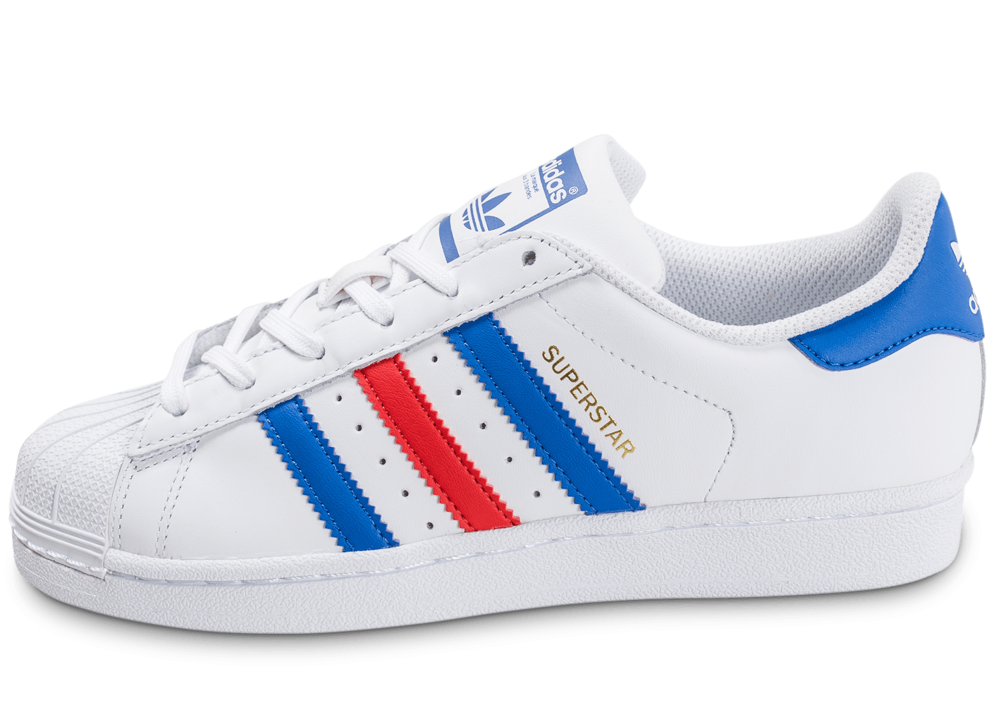adidas superstar junior bleu blanc rouge chaussures adidas chausport. Black Bedroom Furniture Sets. Home Design Ideas