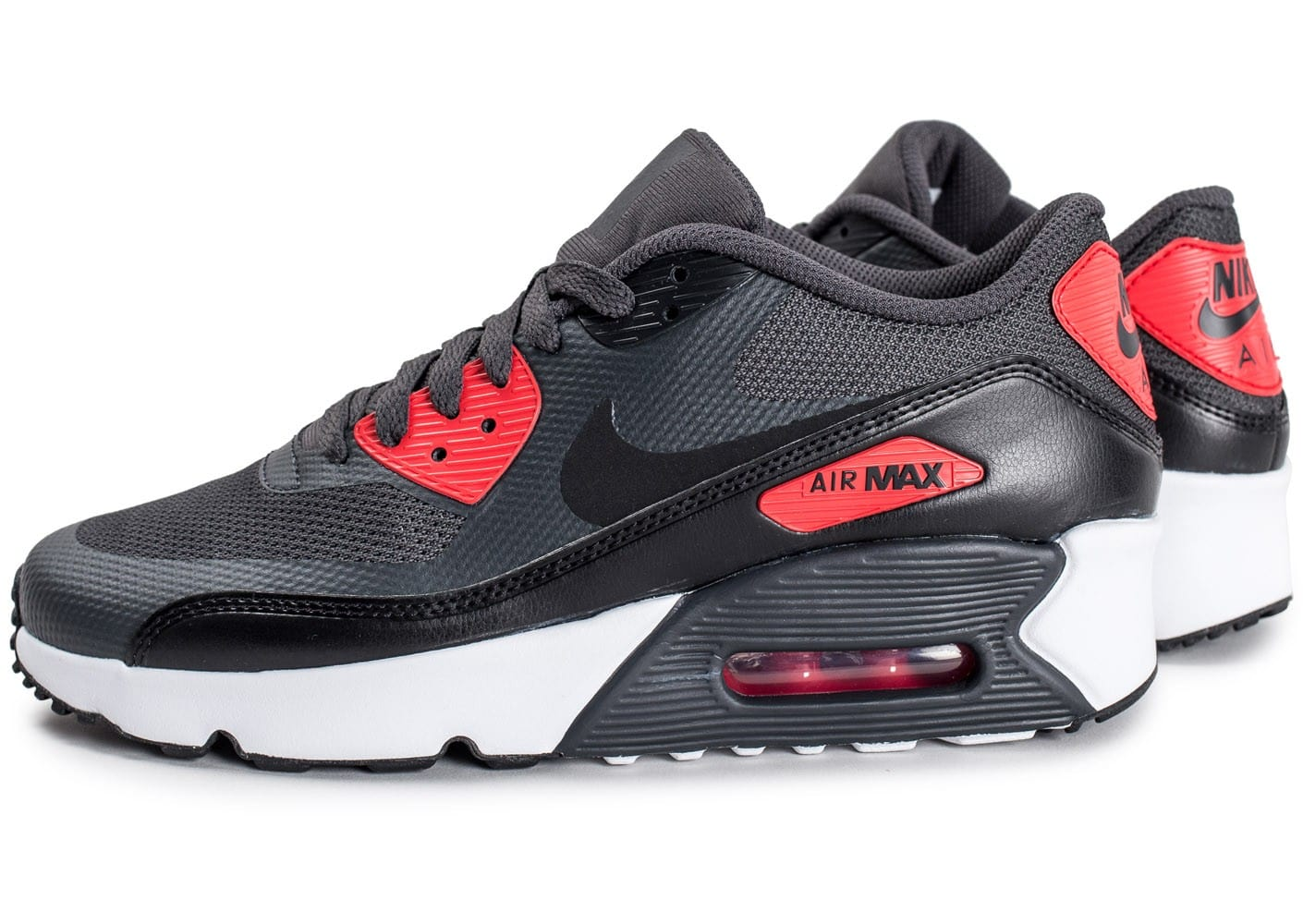 soldes nike air max 90 ultra 2 0 junior anthracite et rouge chaussures toutes les baskets. Black Bedroom Furniture Sets. Home Design Ideas