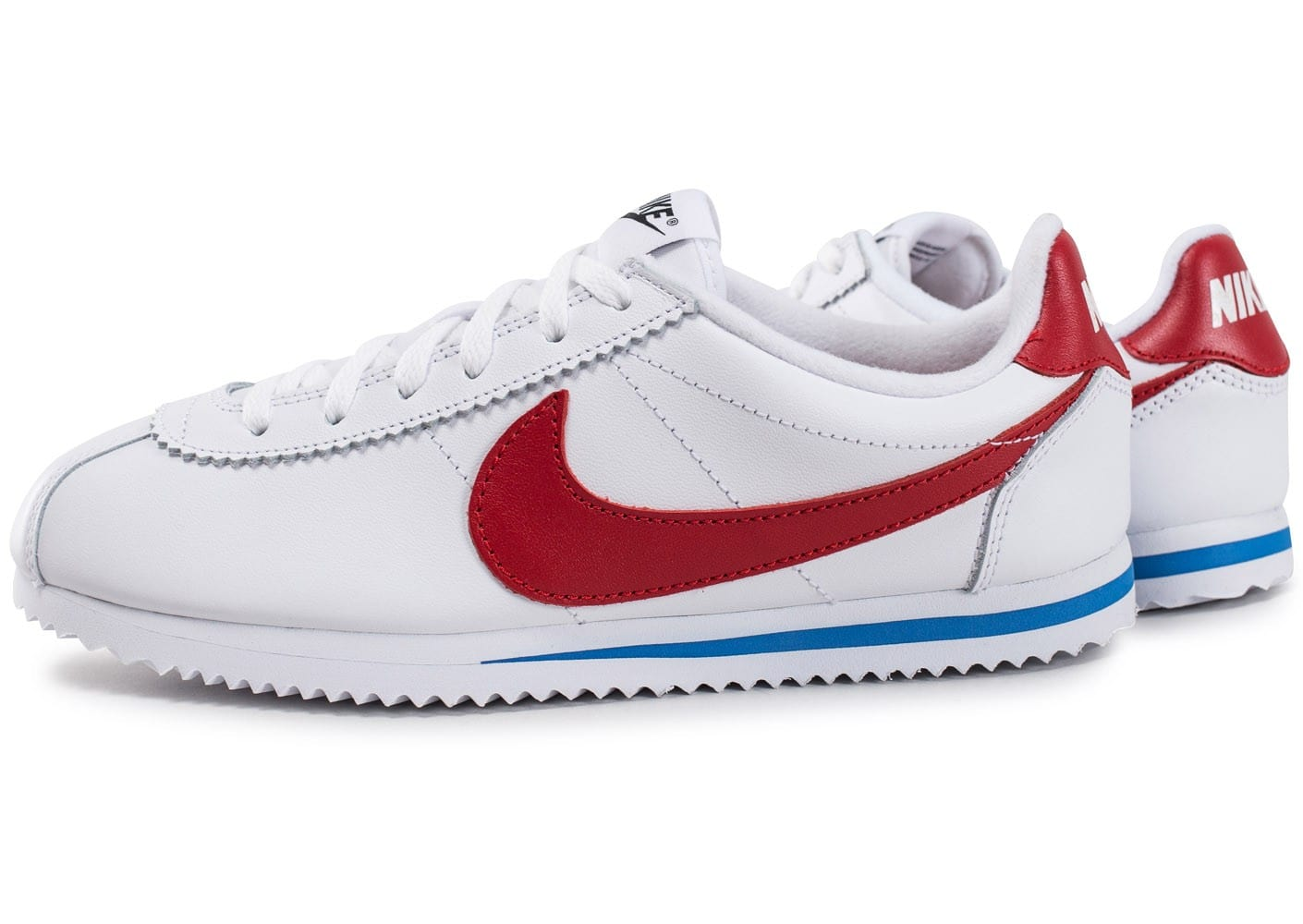 nike cortez leather se junior blanche rouge et bleue chaussures enfant chausport. Black Bedroom Furniture Sets. Home Design Ideas