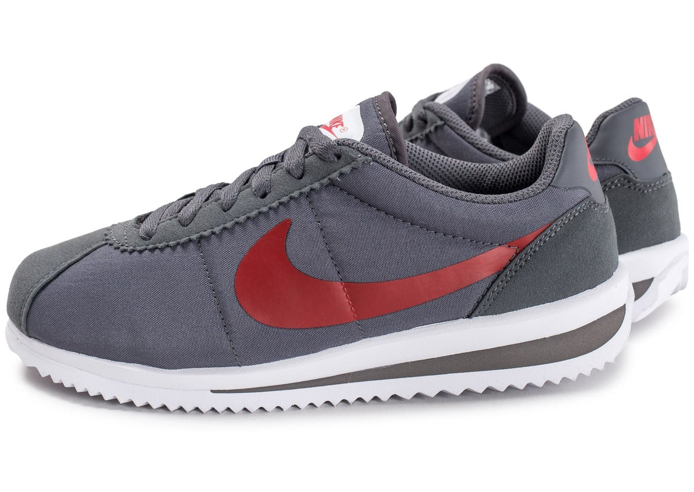 nike cortez ultra junior grise et rouge chaussures enfant chausport. Black Bedroom Furniture Sets. Home Design Ideas