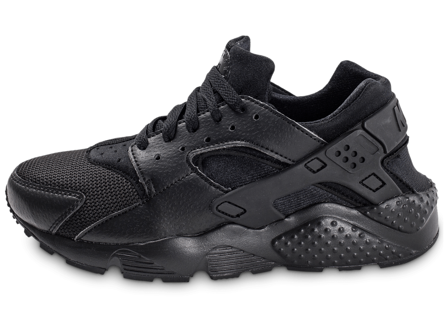 nike huarache run junior noire chaussures black friday chausport. Black Bedroom Furniture Sets. Home Design Ideas