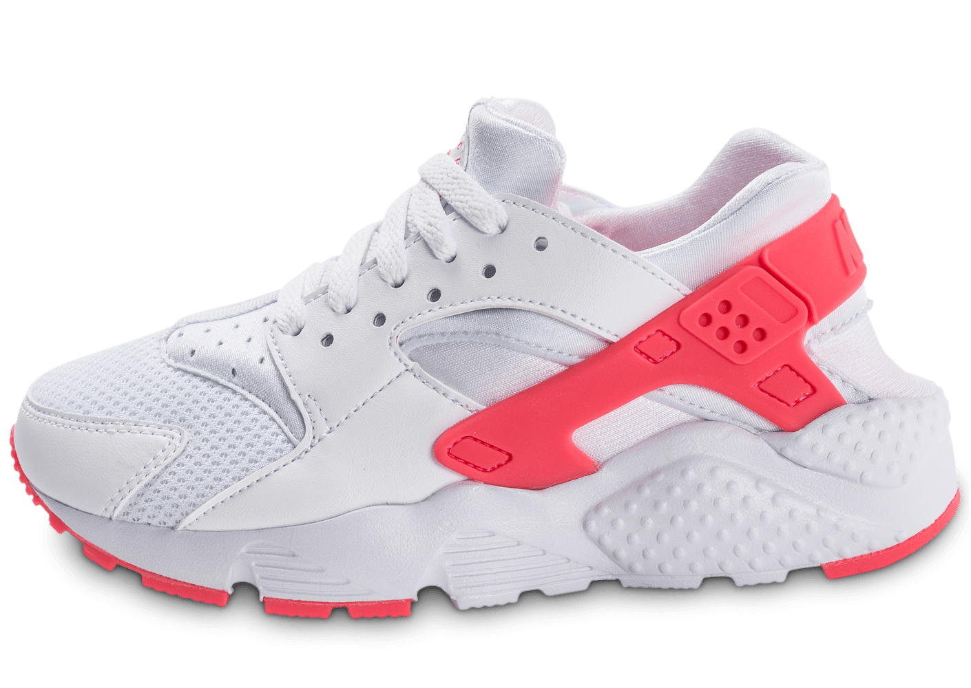 nike huarache run junior blanche et rose chaussures enfant chausport. Black Bedroom Furniture Sets. Home Design Ideas