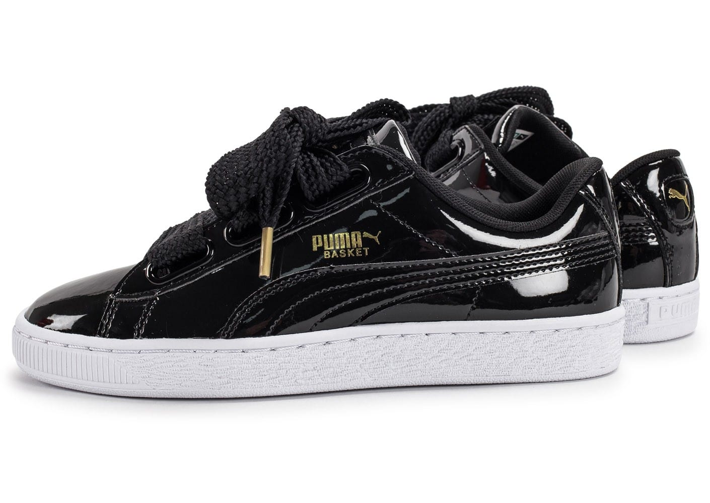 puma basket heart patent noire chaussures femme chausport. Black Bedroom Furniture Sets. Home Design Ideas