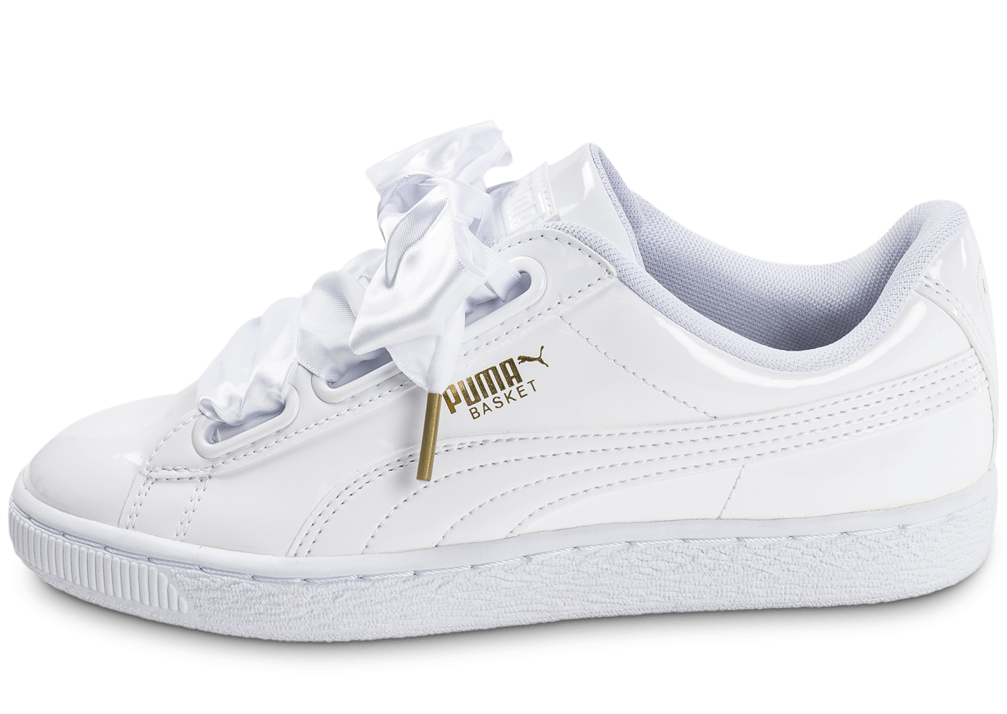 puma basket heart patent blanche chaussures femme chausport. Black Bedroom Furniture Sets. Home Design Ideas