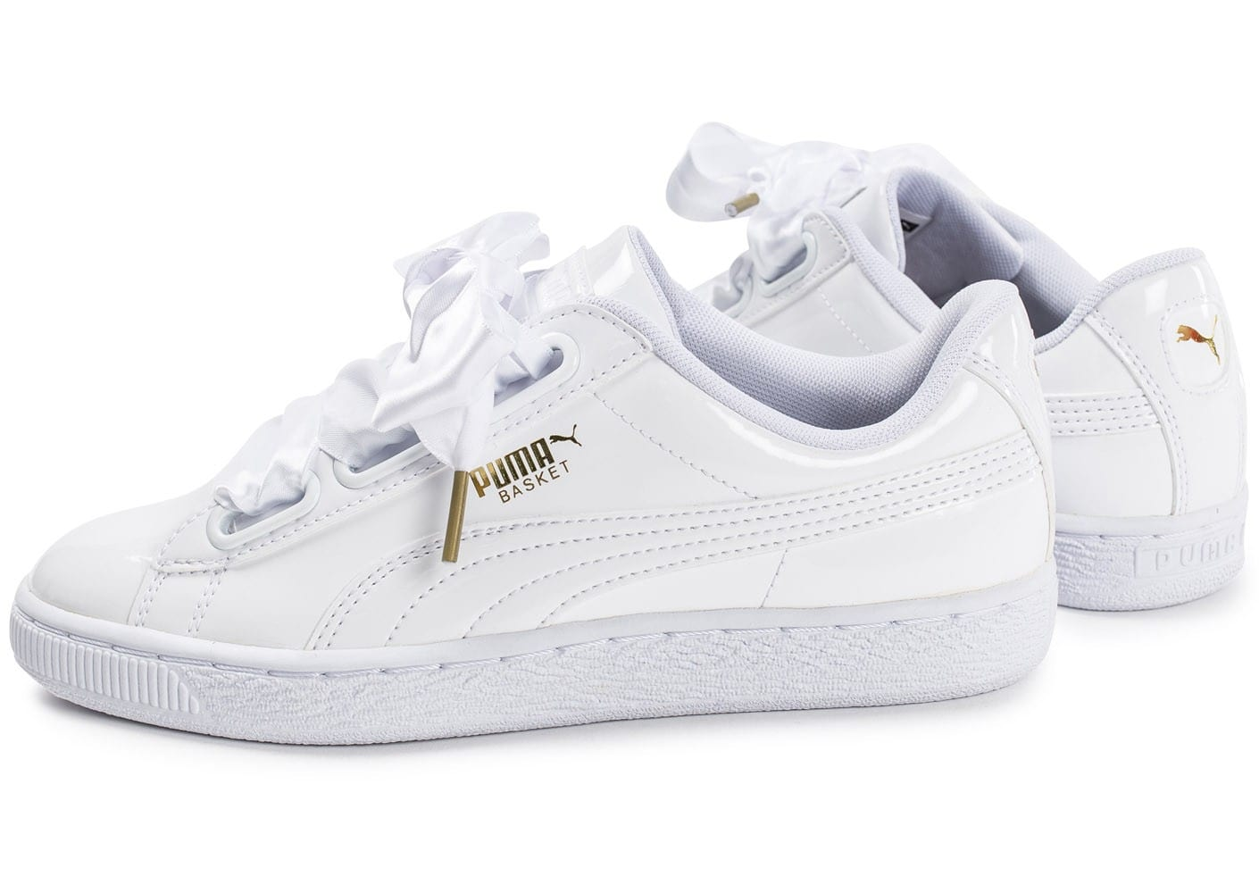 puma basket heart patent blanche chaussures femme. Black Bedroom Furniture Sets. Home Design Ideas