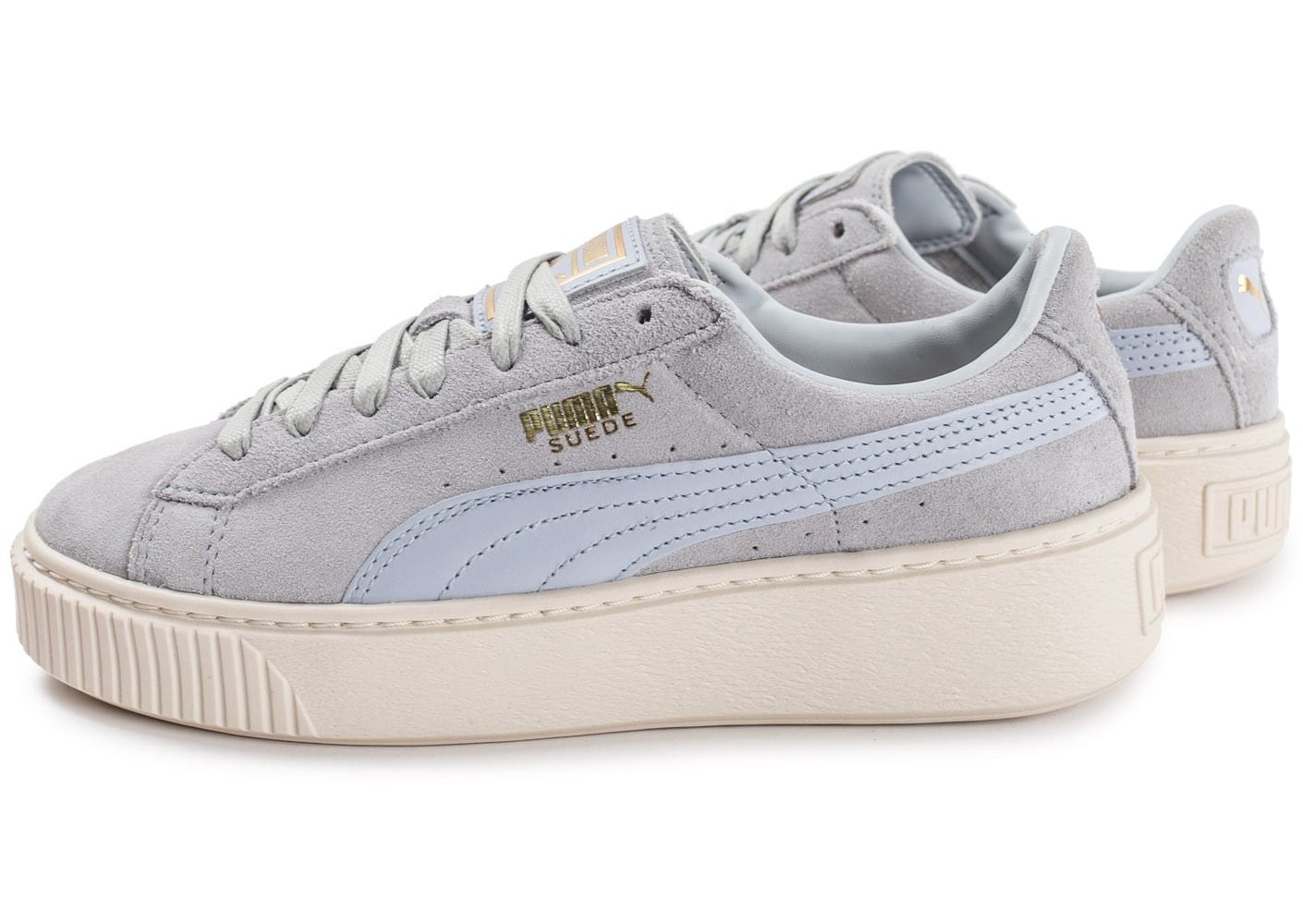 Chaussures Puma Suede blanches Casual homme