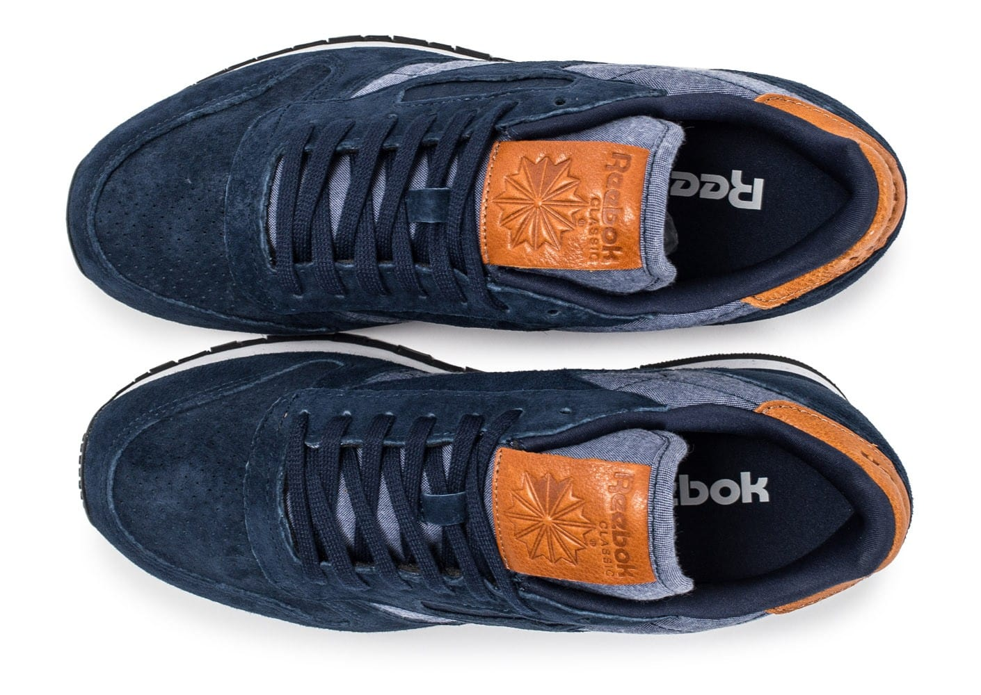 Chaussures Reebok Classic Leather Chambray bleu marine vue arrière