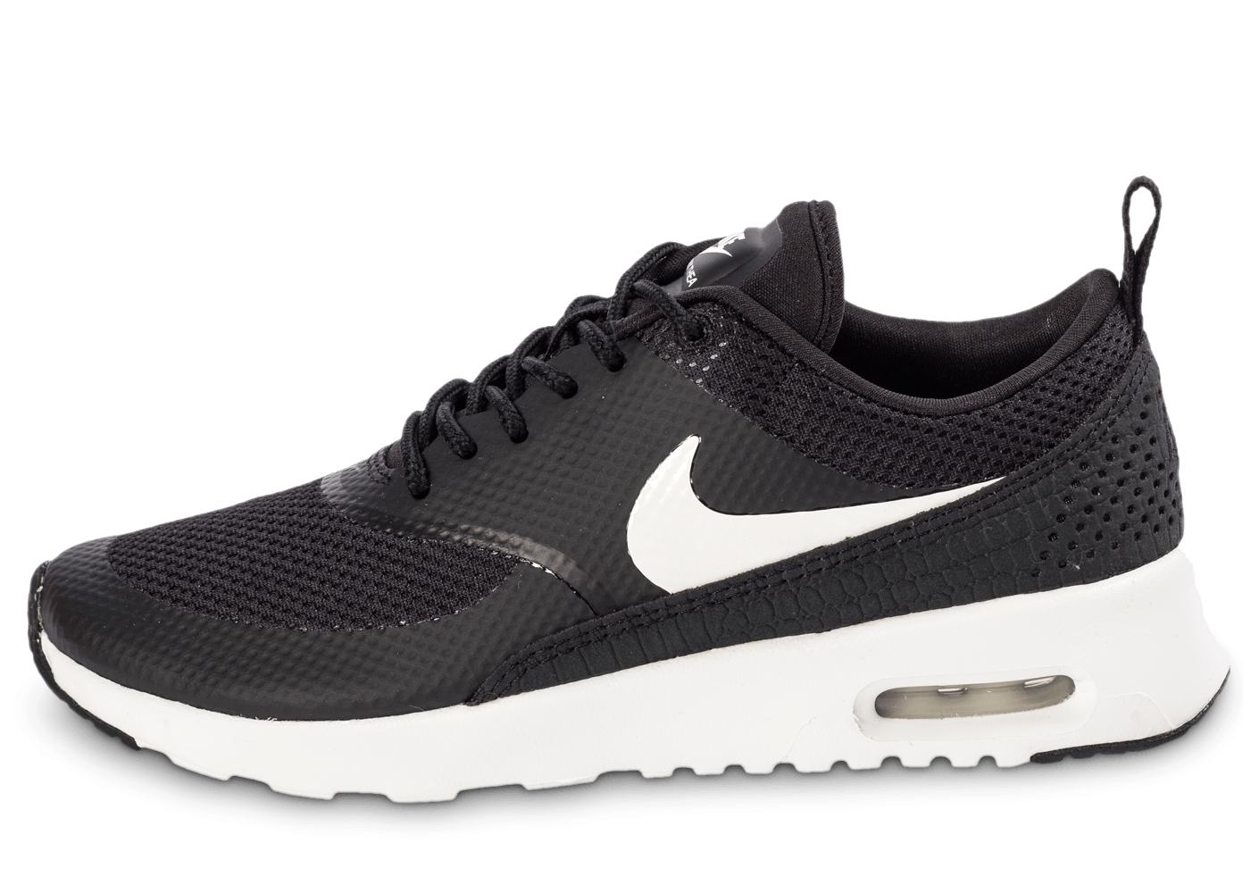 nike air max thea noire et blanche chaussures femme chausport. Black Bedroom Furniture Sets. Home Design Ideas