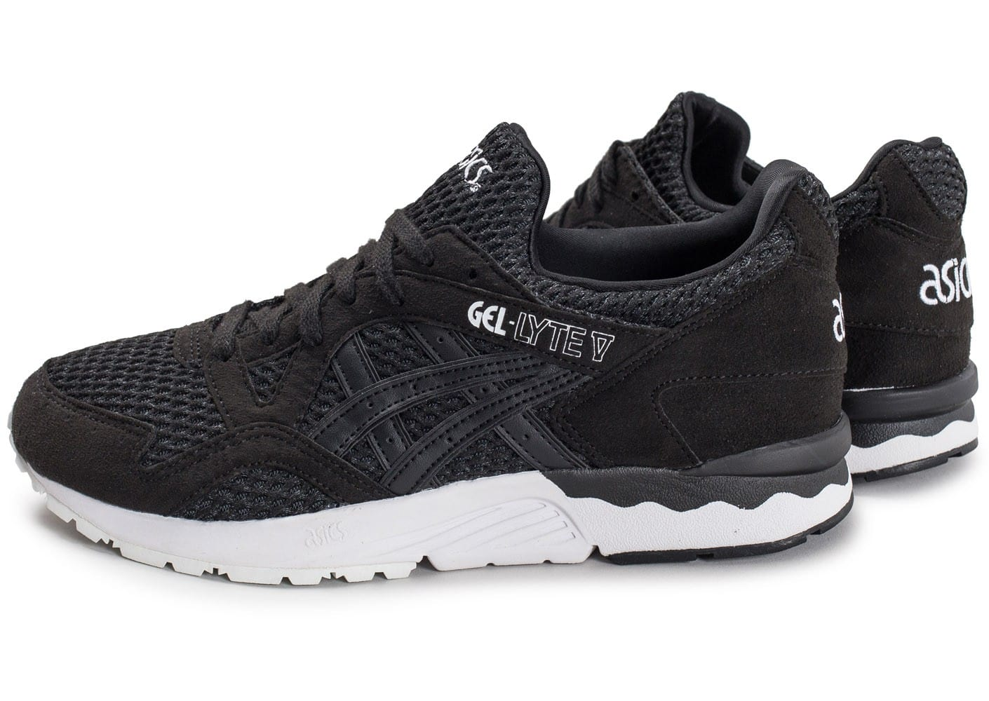 asics gel lyte v noire chaussures homme chausport. Black Bedroom Furniture Sets. Home Design Ideas