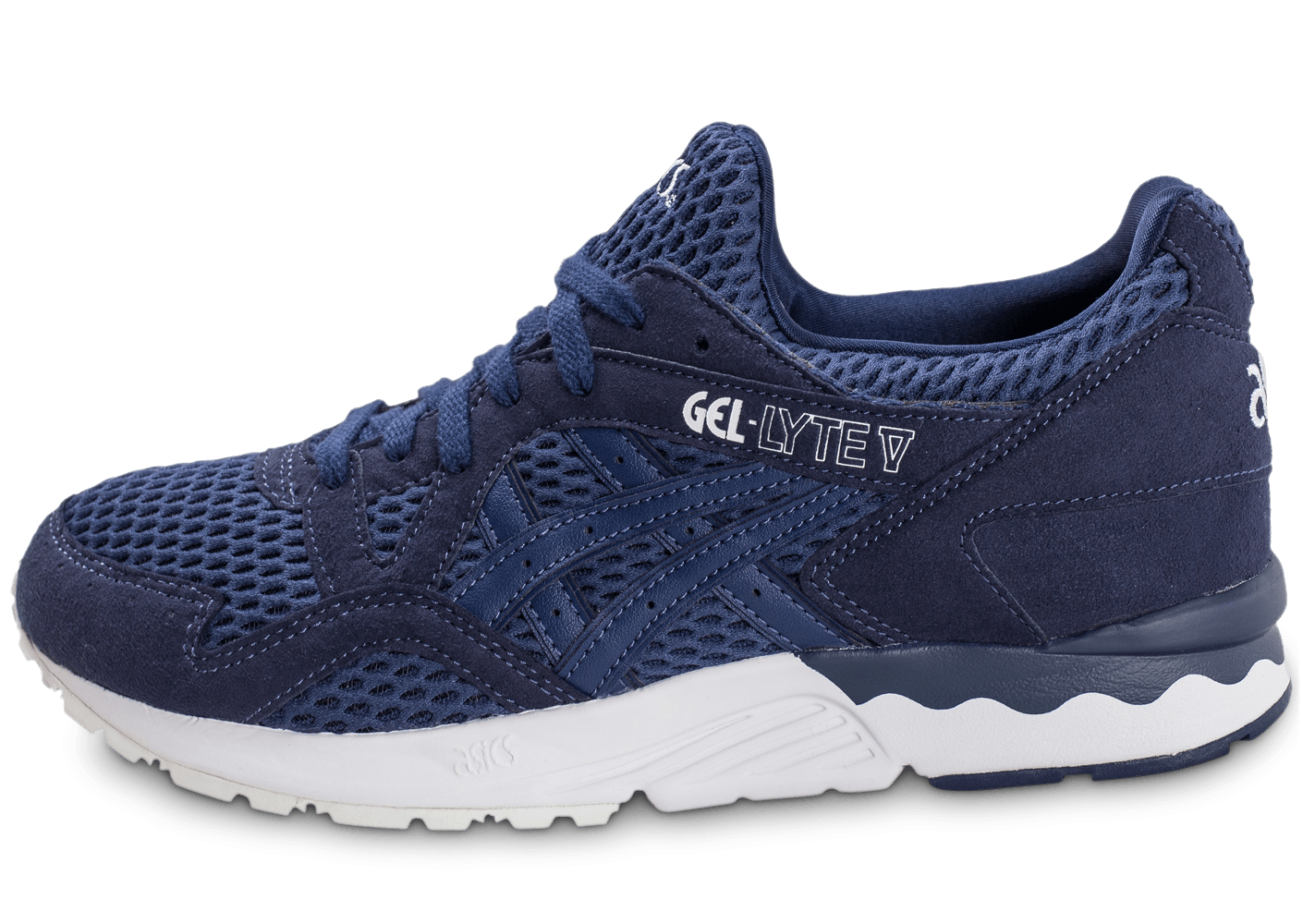 asics gel lyte v bleu indigo chaussures homme chausport. Black Bedroom Furniture Sets. Home Design Ideas