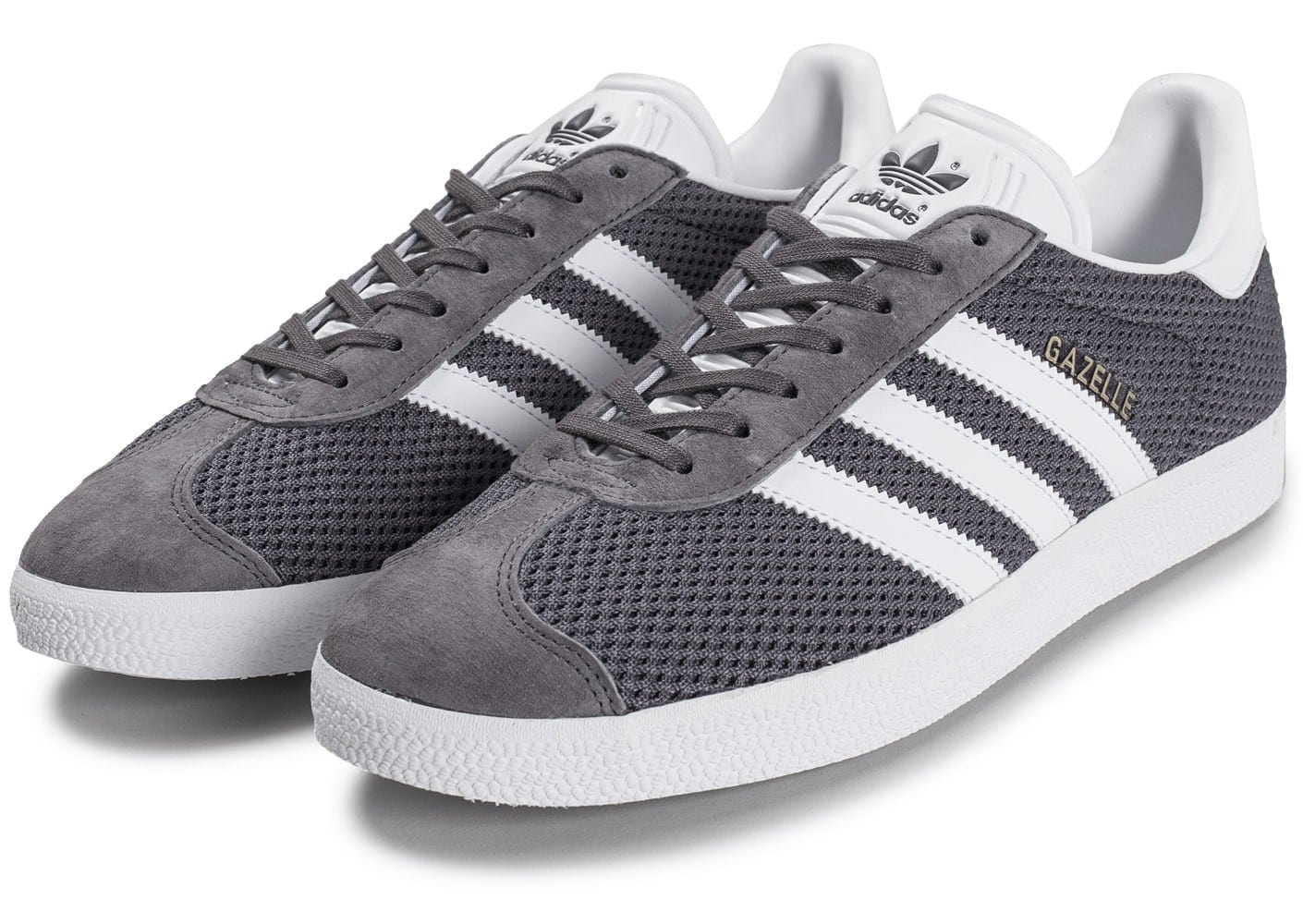 adidas gazelle mesh grise chaussures homme chausport. Black Bedroom Furniture Sets. Home Design Ideas