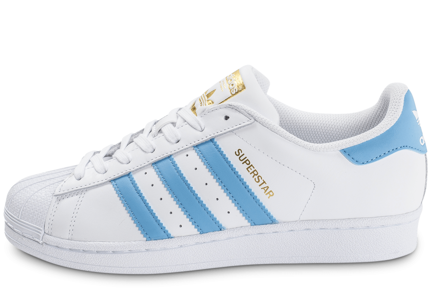 adidas superstar blanc et bleu ciel chaussures homme chausport. Black Bedroom Furniture Sets. Home Design Ideas