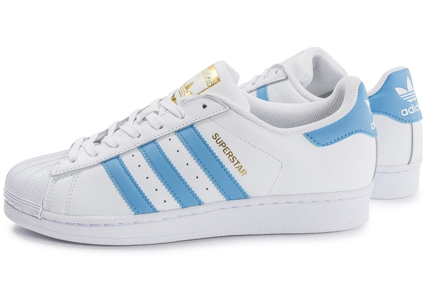 soldes adidas superstar blanc et bleu ciel chaussures homme chausport. Black Bedroom Furniture Sets. Home Design Ideas