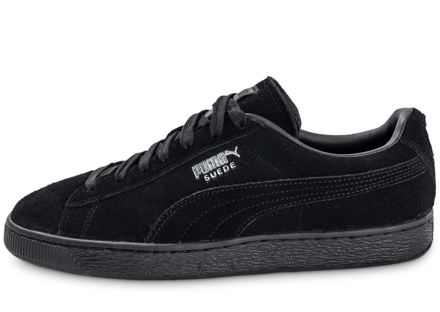 puma suede classic monochrome noire chaussures homme chausport. Black Bedroom Furniture Sets. Home Design Ideas