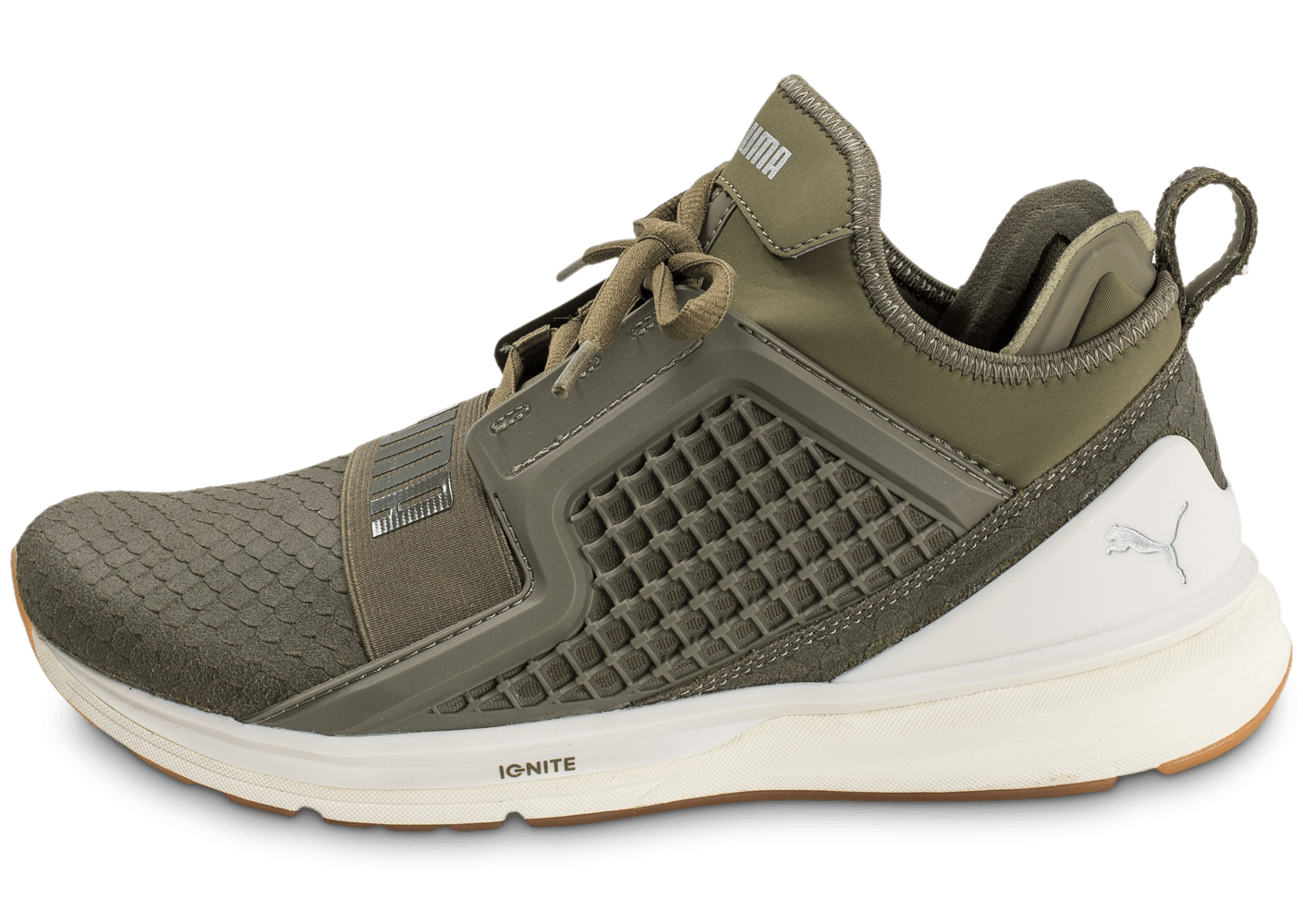 puma ignite limitless reptile olive chaussures homme chausport. Black Bedroom Furniture Sets. Home Design Ideas
