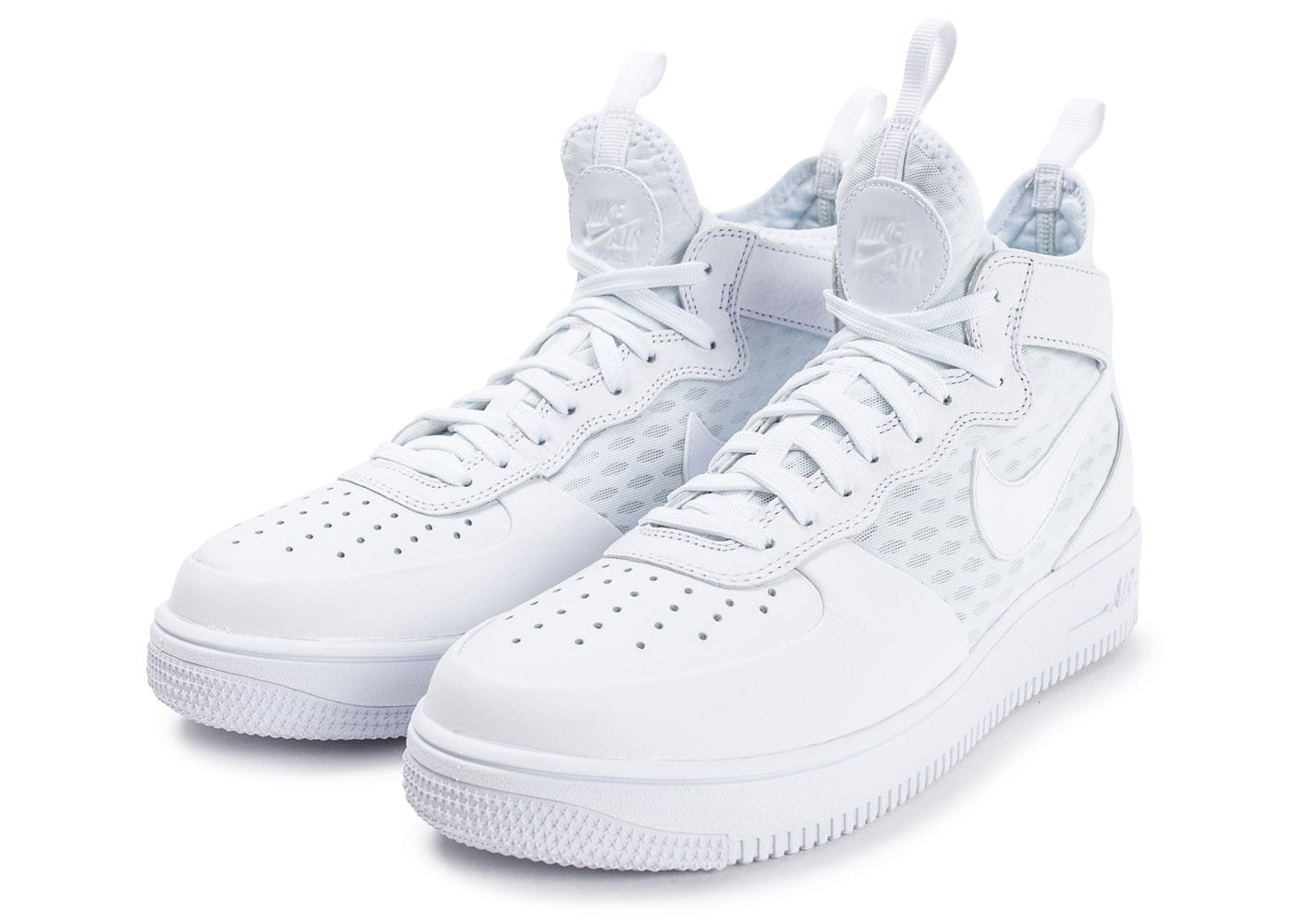 ... Chaussures Nike Air Force 1 UltraForce Mid blanche vue intérieure ...