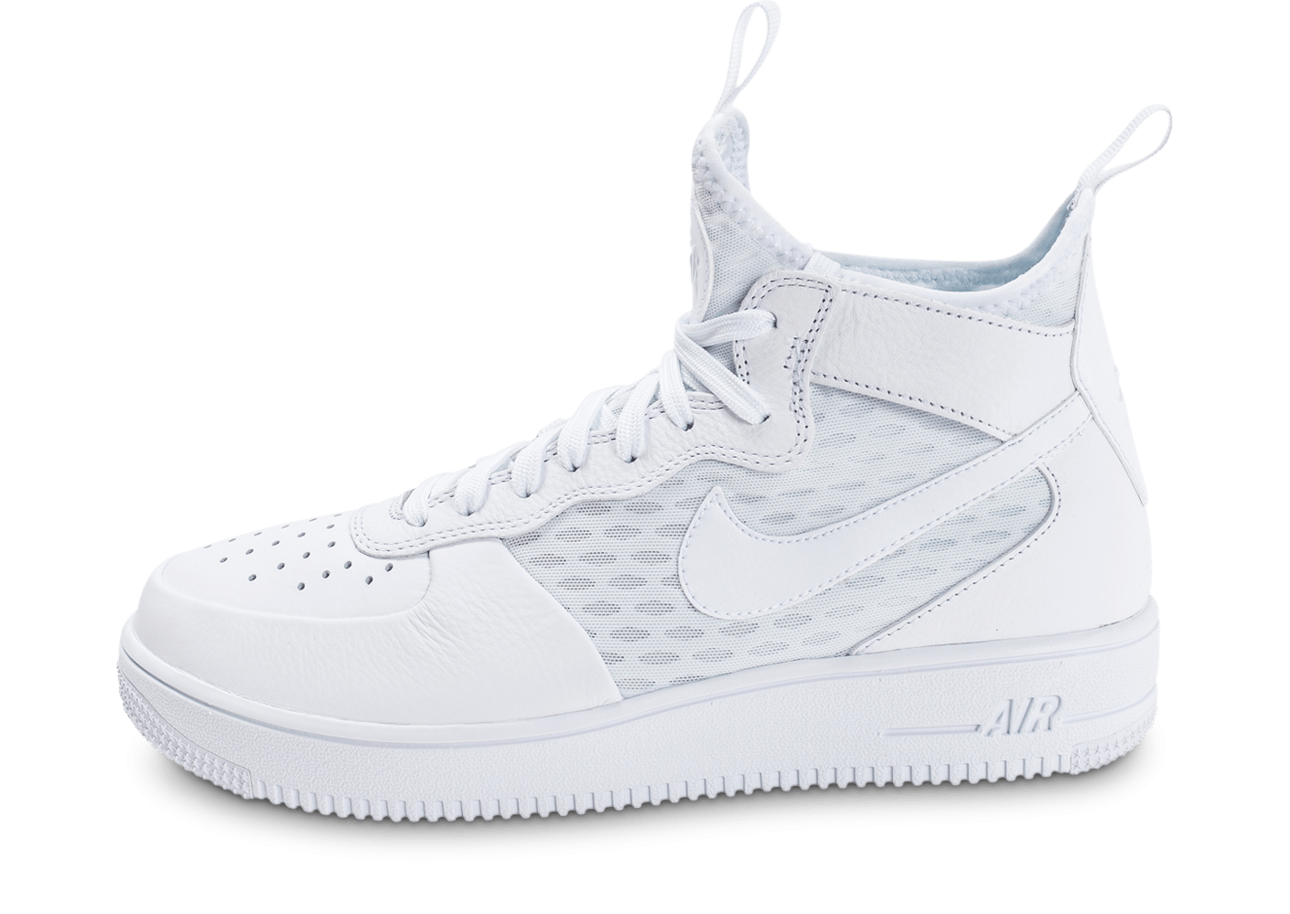 nike air force 1 ultraforce mid blanche chaussures baskets homme chausport. Black Bedroom Furniture Sets. Home Design Ideas