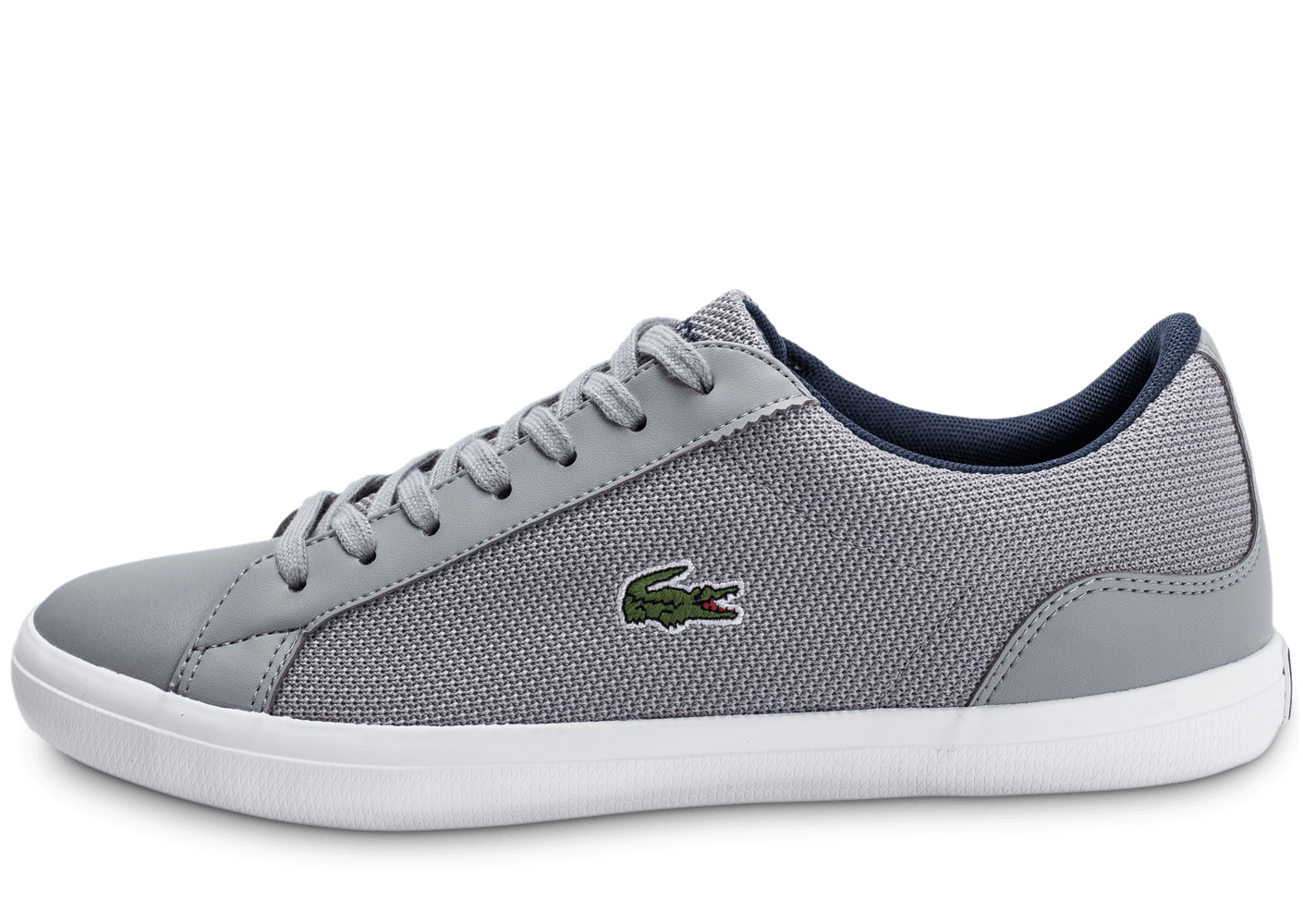 lacoste lerond nylon grise chaussures homme chausport. Black Bedroom Furniture Sets. Home Design Ideas