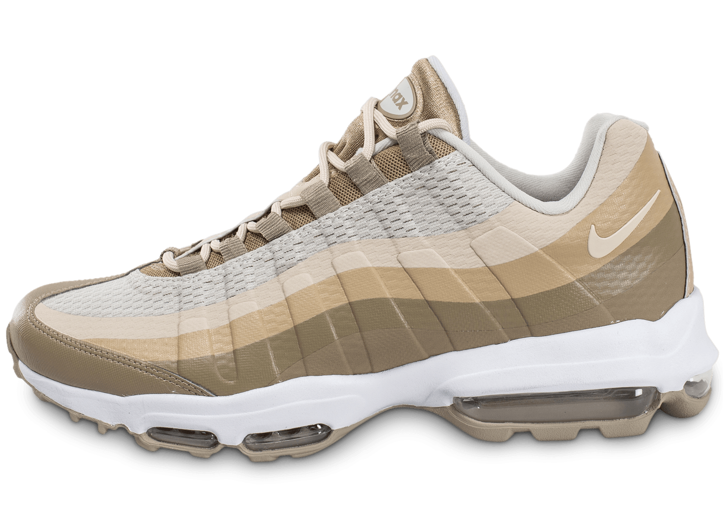 f32050f29a5 ... chaussures nike air max 95 ultra essential beige vue exterieure