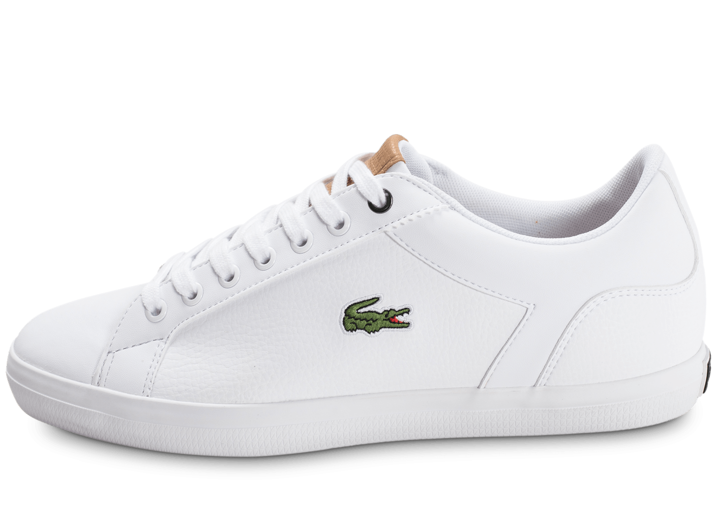 lacoste lerond leather blanche chaussures homme chausport. Black Bedroom Furniture Sets. Home Design Ideas