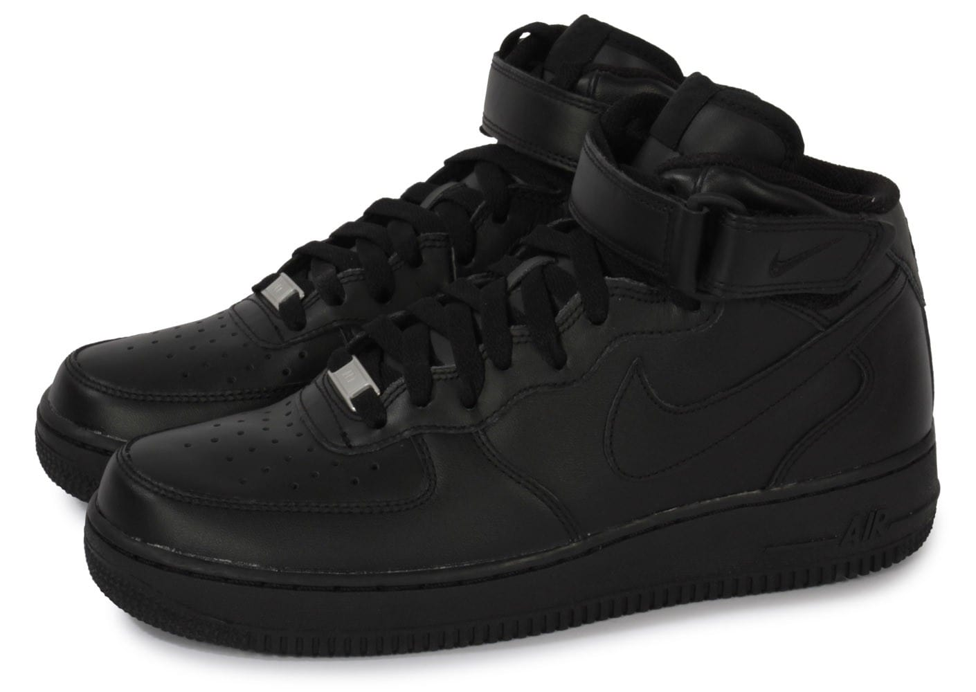 nike air force 1 mid 07 noire chaussures homme chausport. Black Bedroom Furniture Sets. Home Design Ideas
