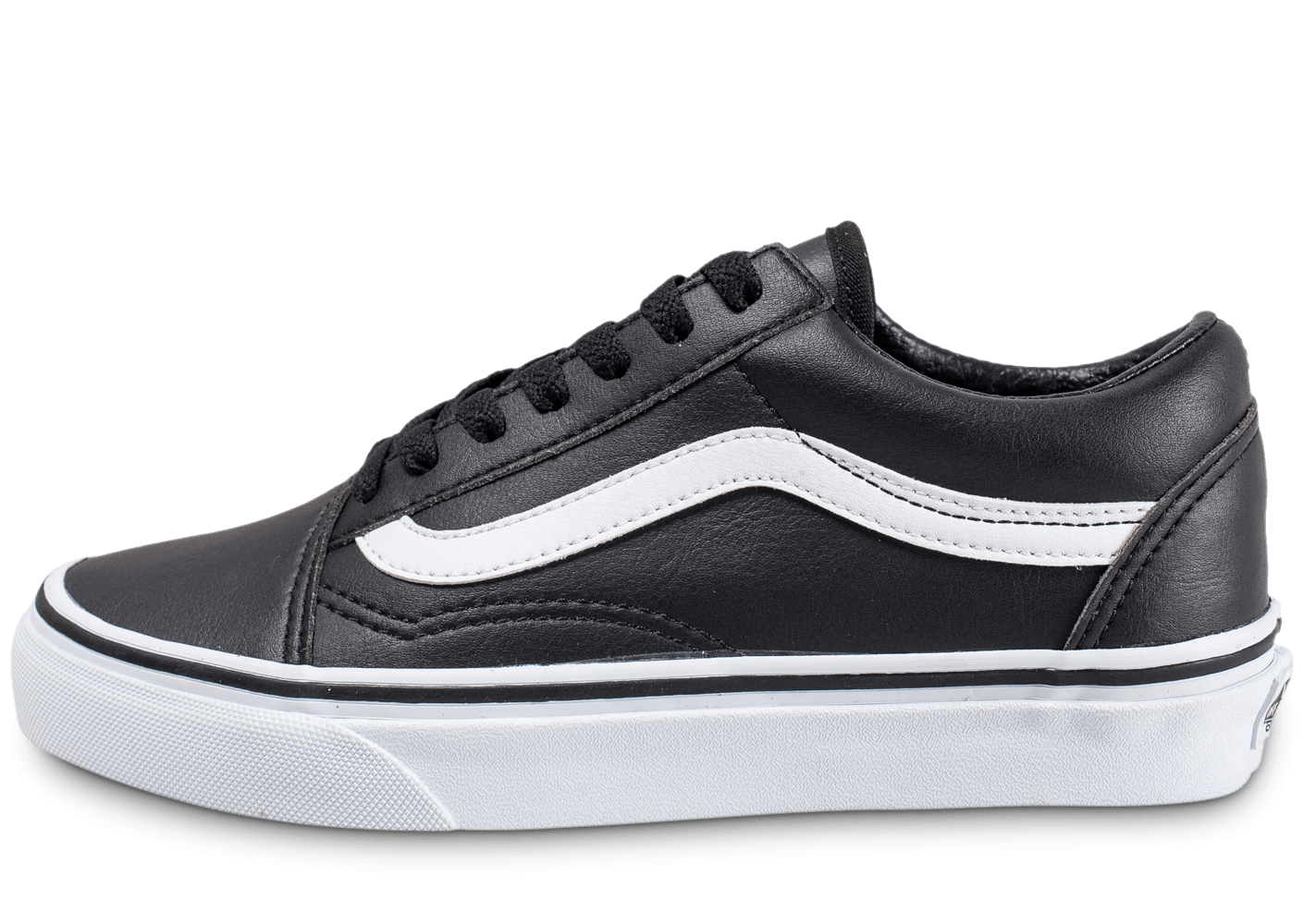 vans old skool low cuir noire chaussures black friday chausport. Black Bedroom Furniture Sets. Home Design Ideas