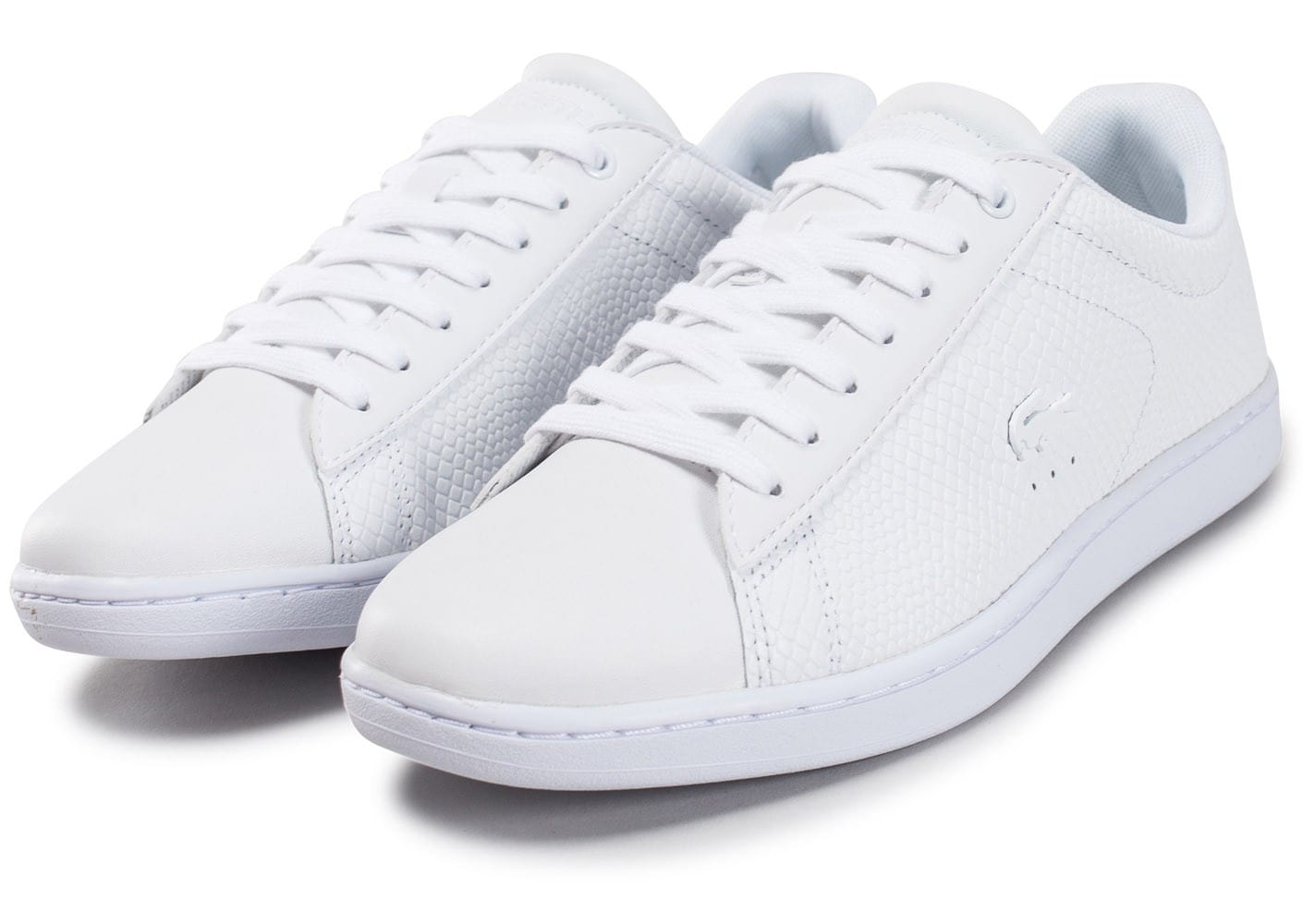 Lacoste carnaby evo texture blanche chaussures black - Lacoste carnaby evo cls baskets en cuir perfore ...