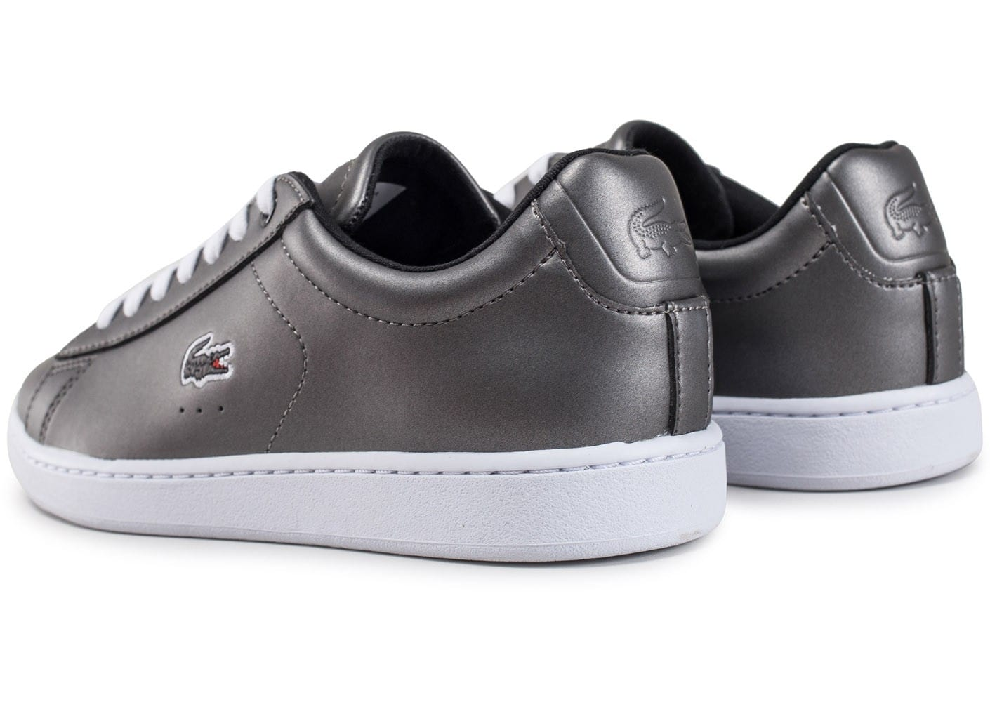 Lacoste carnaby evo w grise chaussures black friday - Lacoste carnaby evo cls baskets en cuir perfore ...
